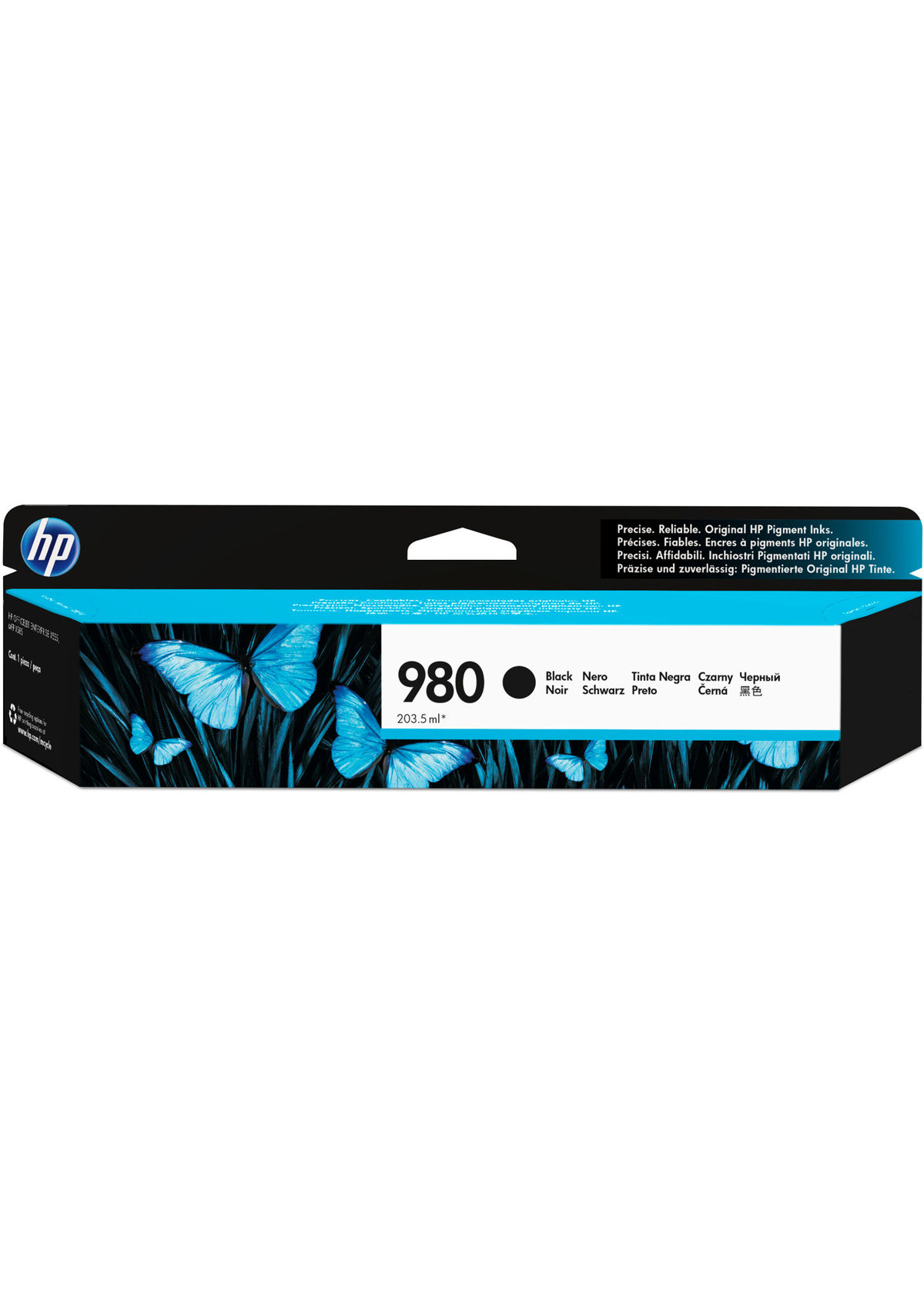 HP 980 (D8J10AG) Black Original Ink Cartridge for US...