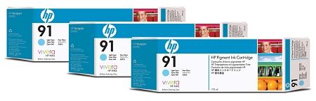 HP 91 (C9486A) 3-Pack Light...