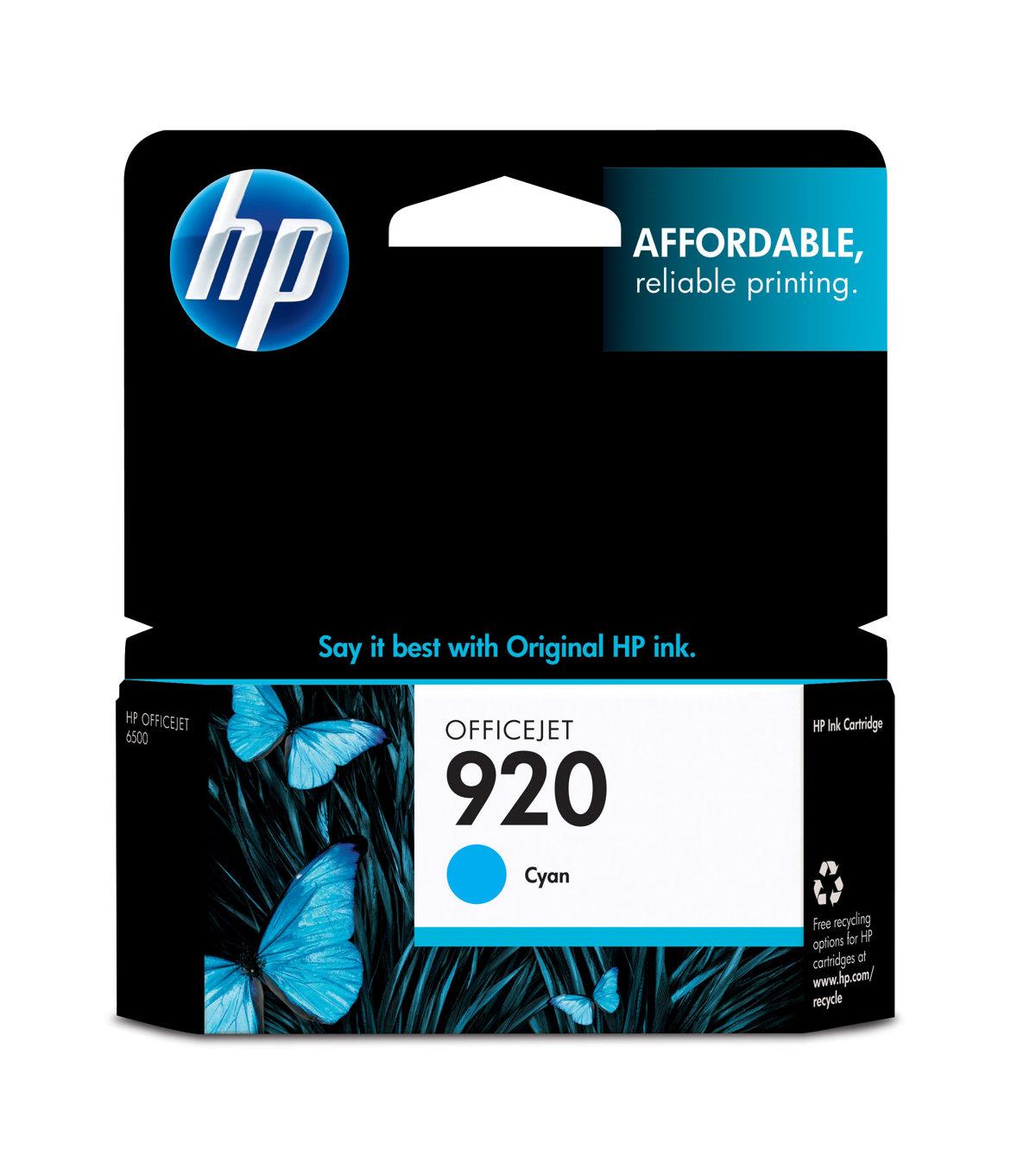HP 920 (CH634AN) Cyan Original...