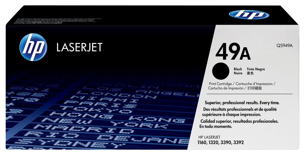 HP 49A (Q5949AG) LaserJet 1160 1320 3390 Black Original...