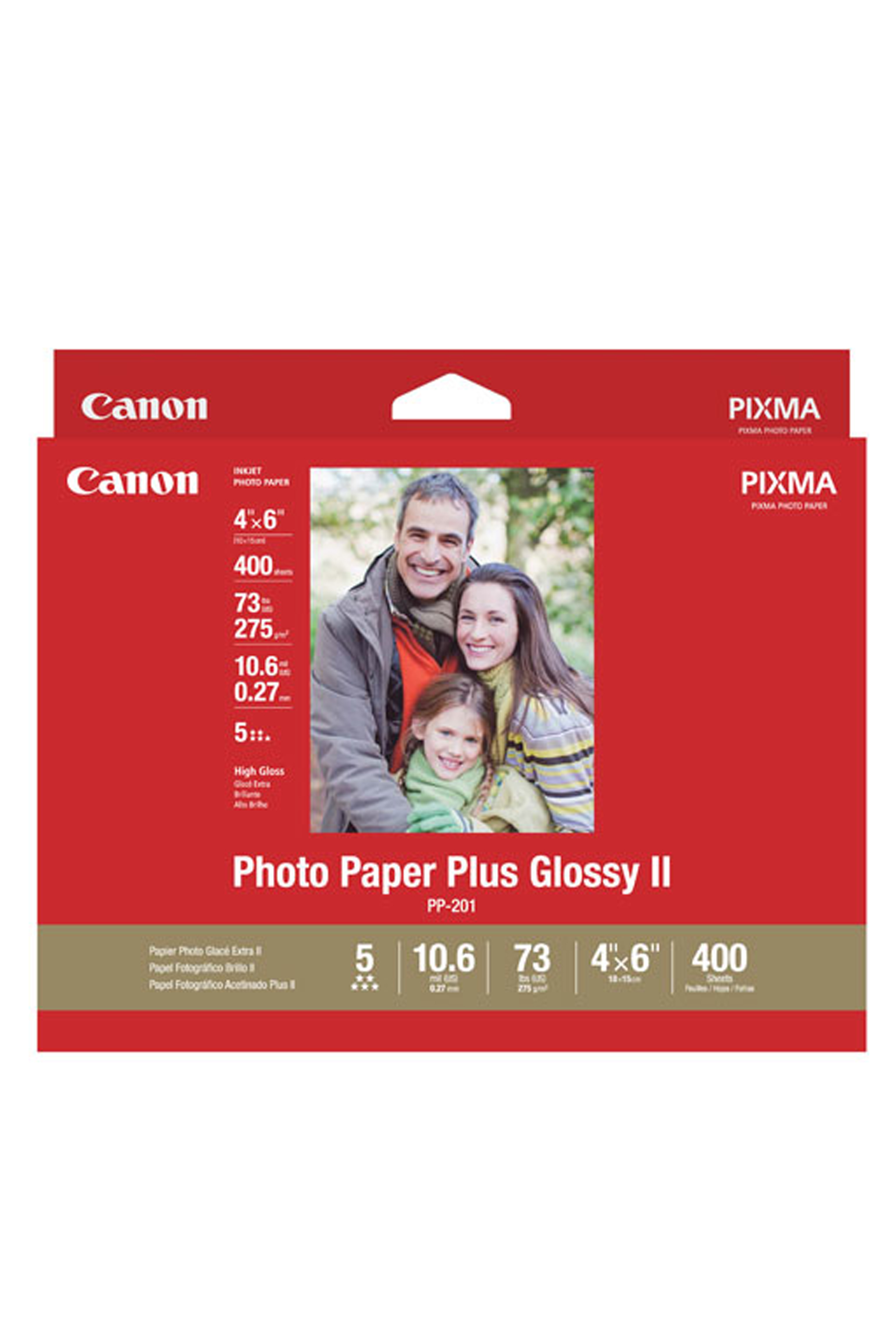 Canon Photo Paper Plus Glossy Ii 4 X 6 400 Sheets 2311b031