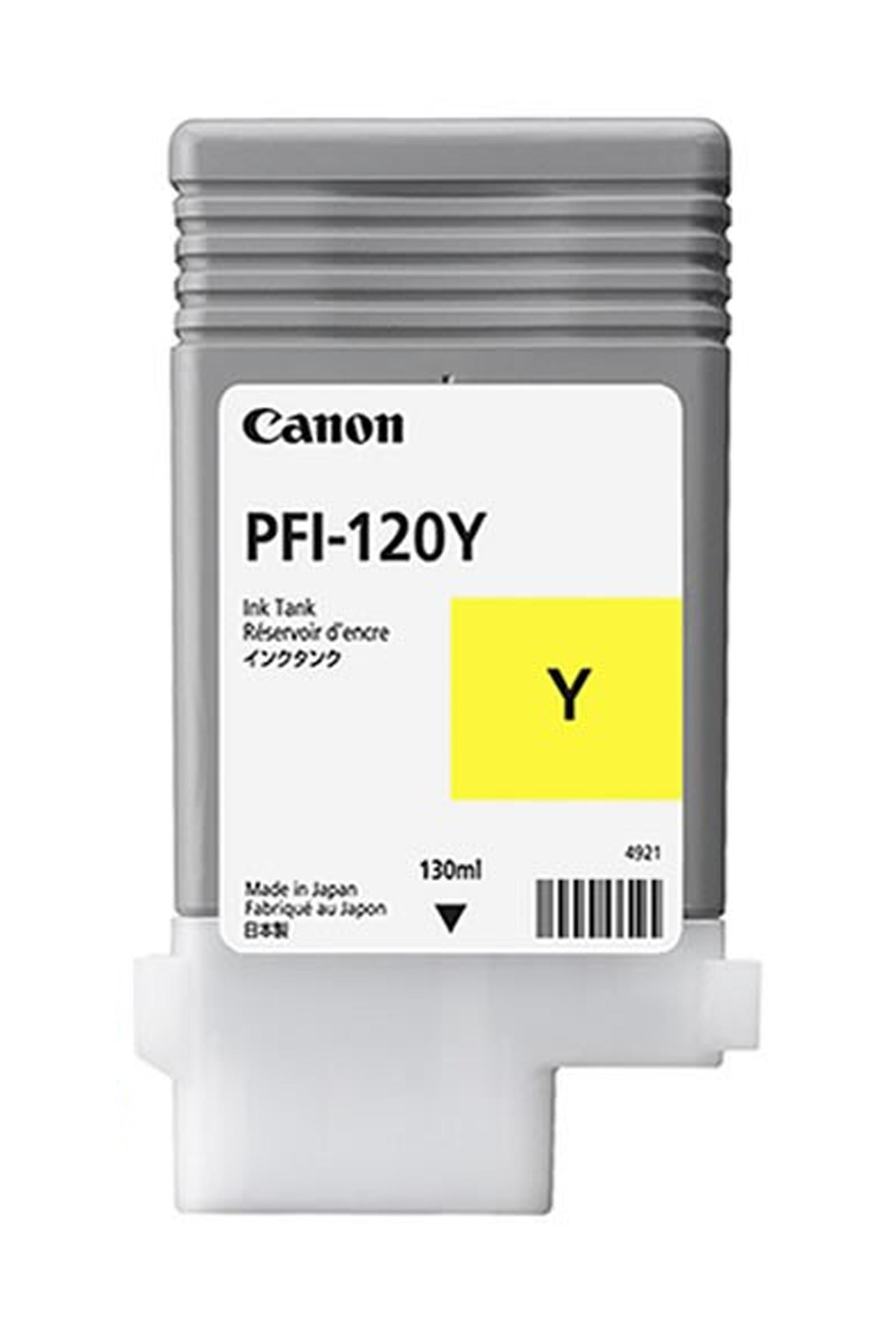 Canon Ink Tank PFI-120Y Pigment Yellow Ink Tank 130ml (2888C001AA)