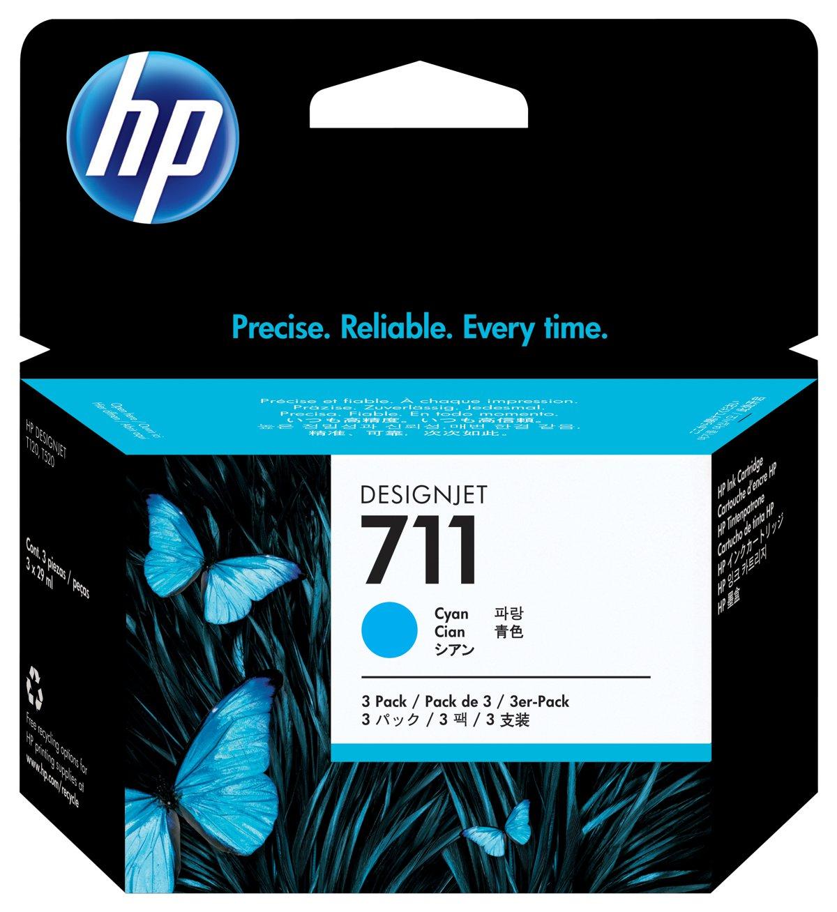 HP 711 (CZ134A) 3-Pack Cyan...