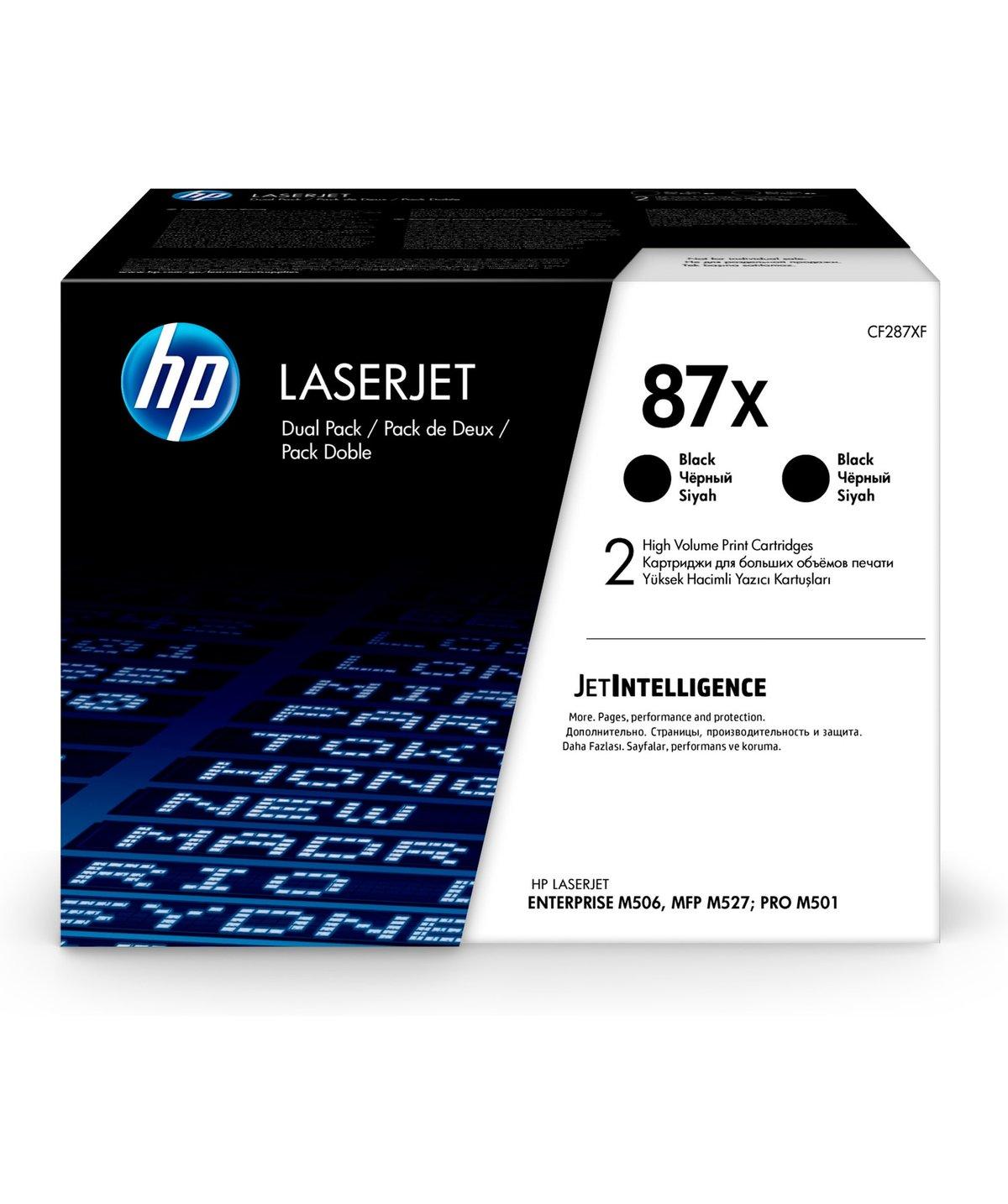HP 87X (CF287XD) 2-Pack High Yield Black Original LaserJet...
