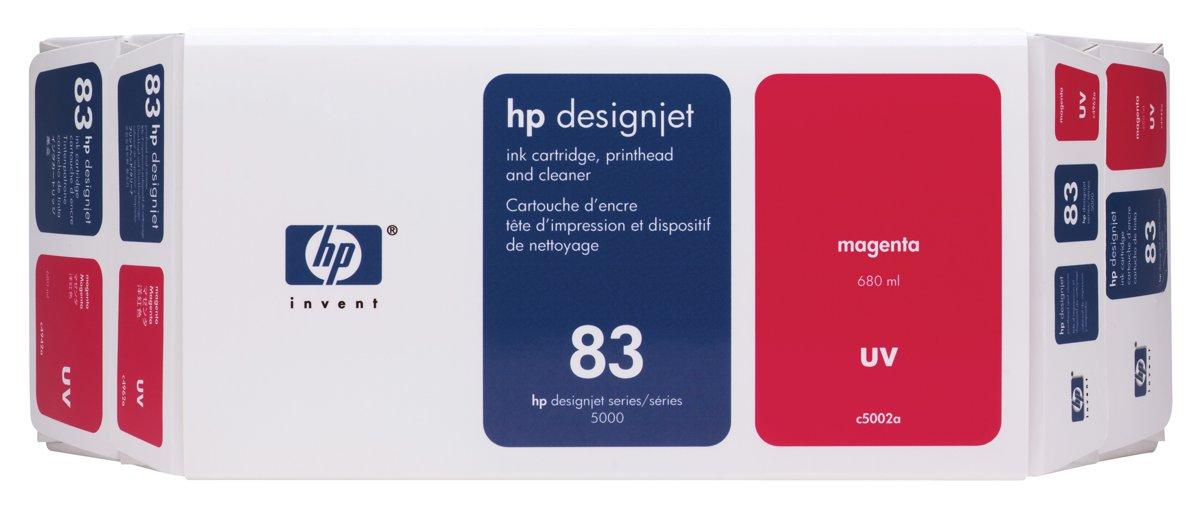 HP 83 (C5002A) Original Magenta Ink Cartridge Printhead and...