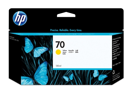 HP 70 (C9454A) Yellow Original...