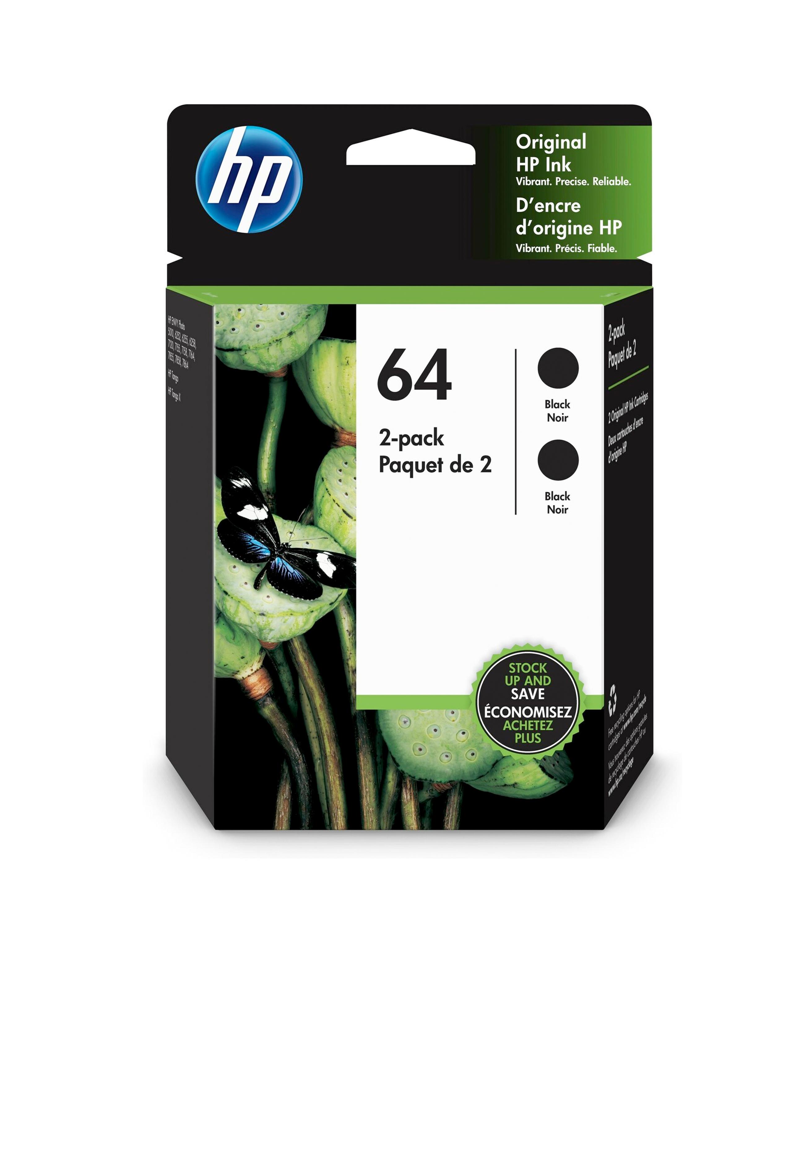 HP 2 Pack Black Cartridge (3YP22AN)