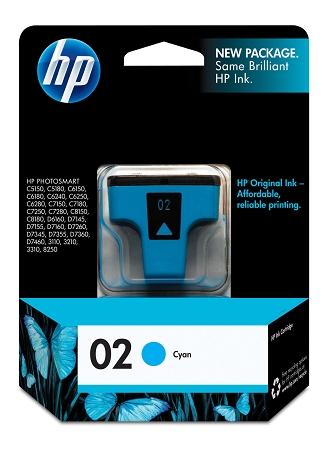 HP 02 (C8771WN) Cyan Original...