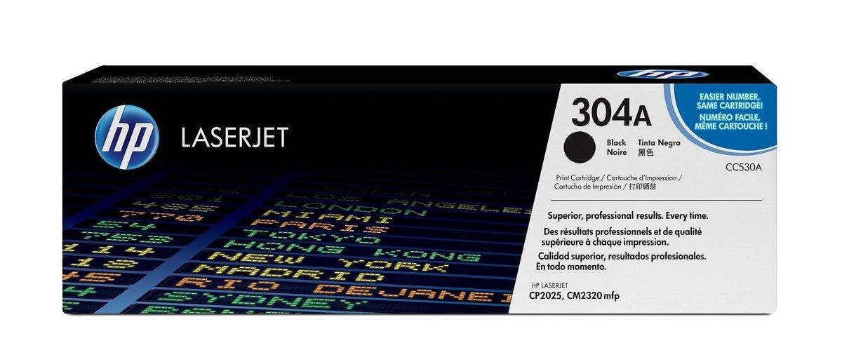 HP 304A Color Black Original LaserJet Toner Cartridge for US...