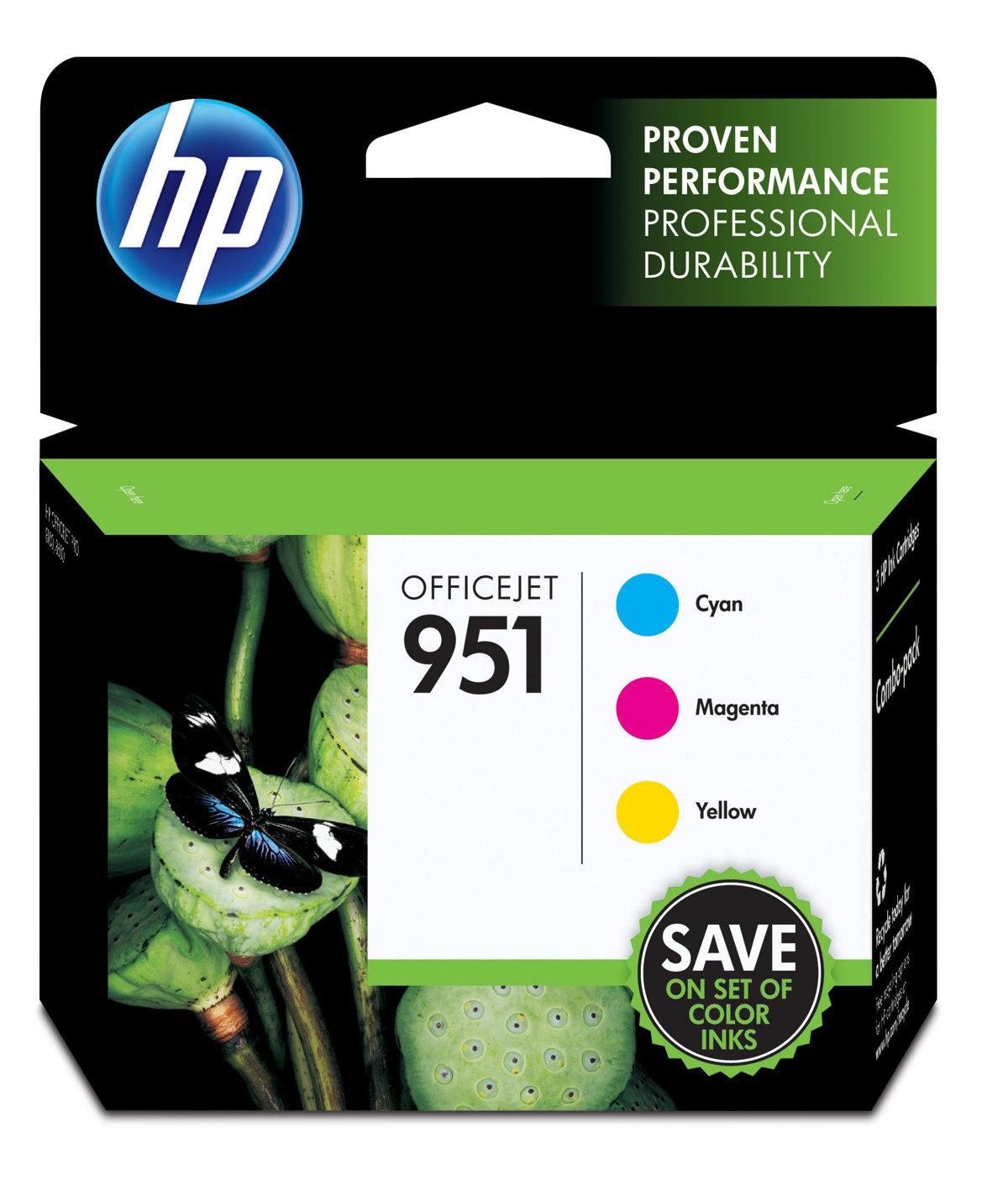HP 951 (CR314FN) 3-Pack Cyan/Yellow/Magenta...