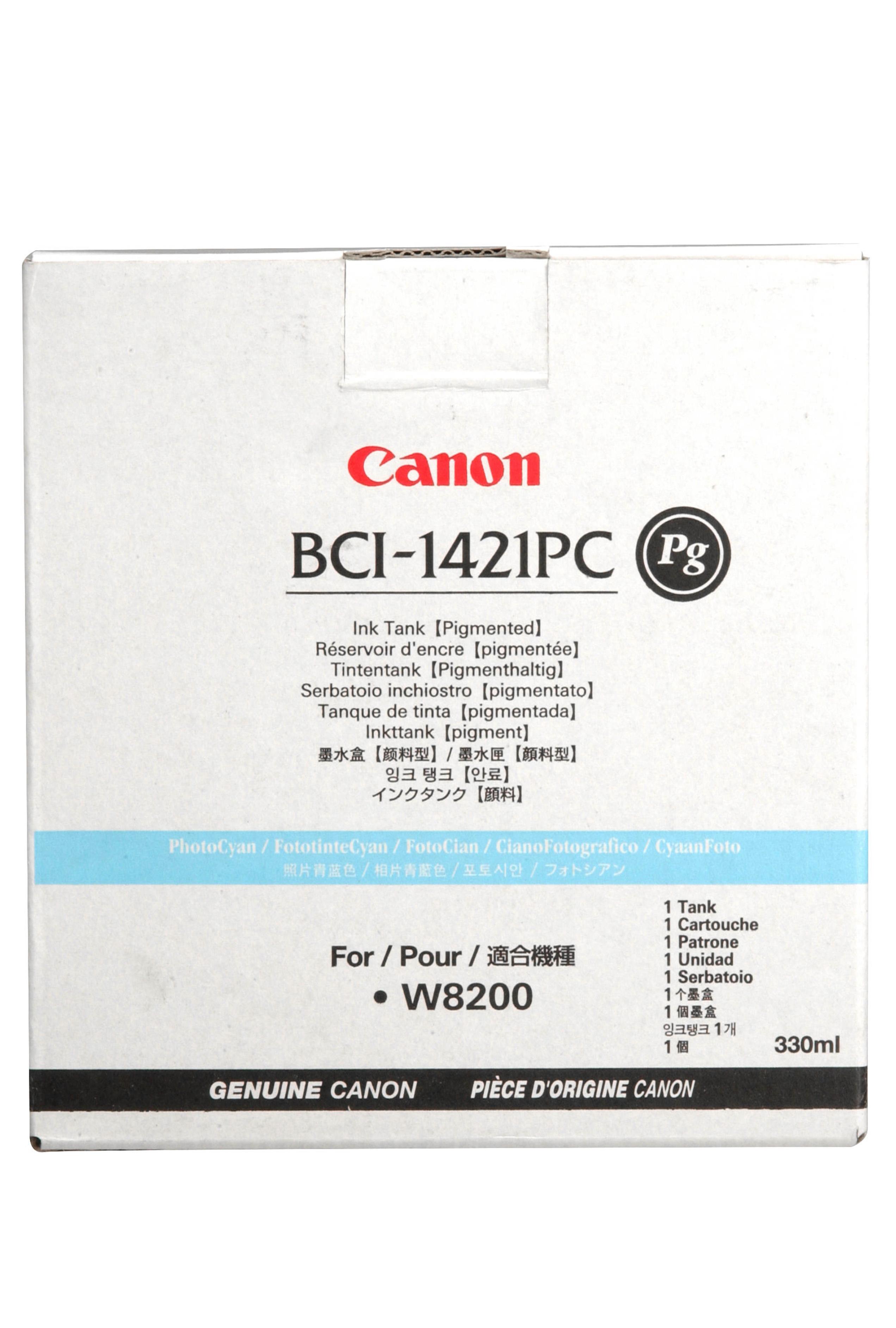 Canon BCI-1421PC - PIGMENT Photo Cyan Ink Tank 330ml (8371A001AA)