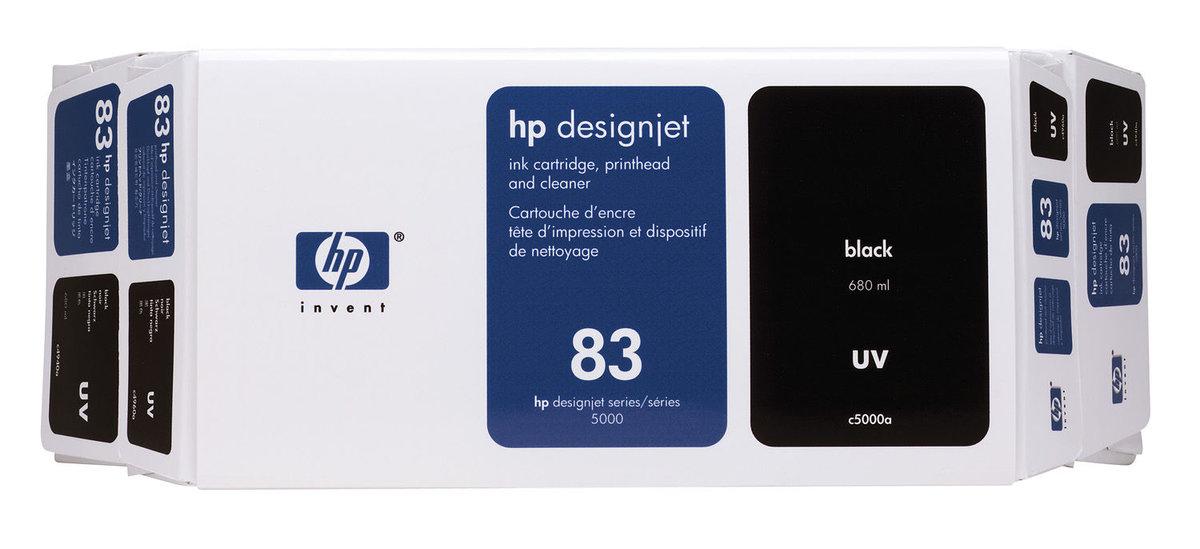 HP 83 (C5000A) Original Black Ink Cartridge Printhead and...