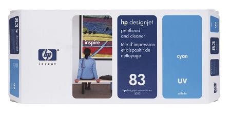 HP 83 (C4961A) Cyan UV Printhead/Printhead...