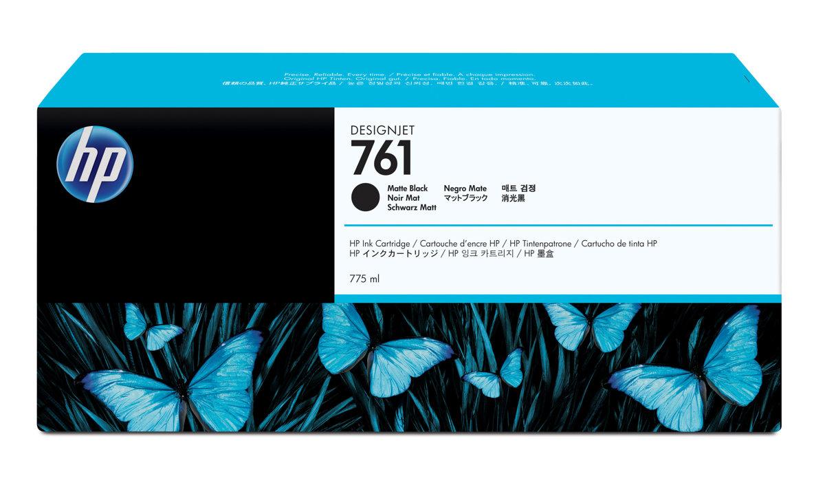 HP 761 (CM997A) Matte Black Original Ink Cartridge (775 ml) (CM997A)