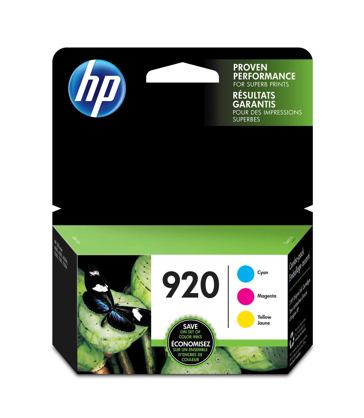 HP 920 (N9H55FN) Cyan/Magenta/Yellow...