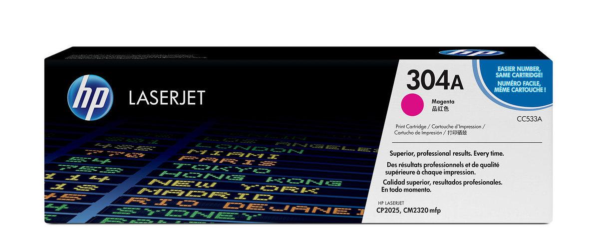 HP 304A Magenta Original LaserJet Toner Cartridge for US...