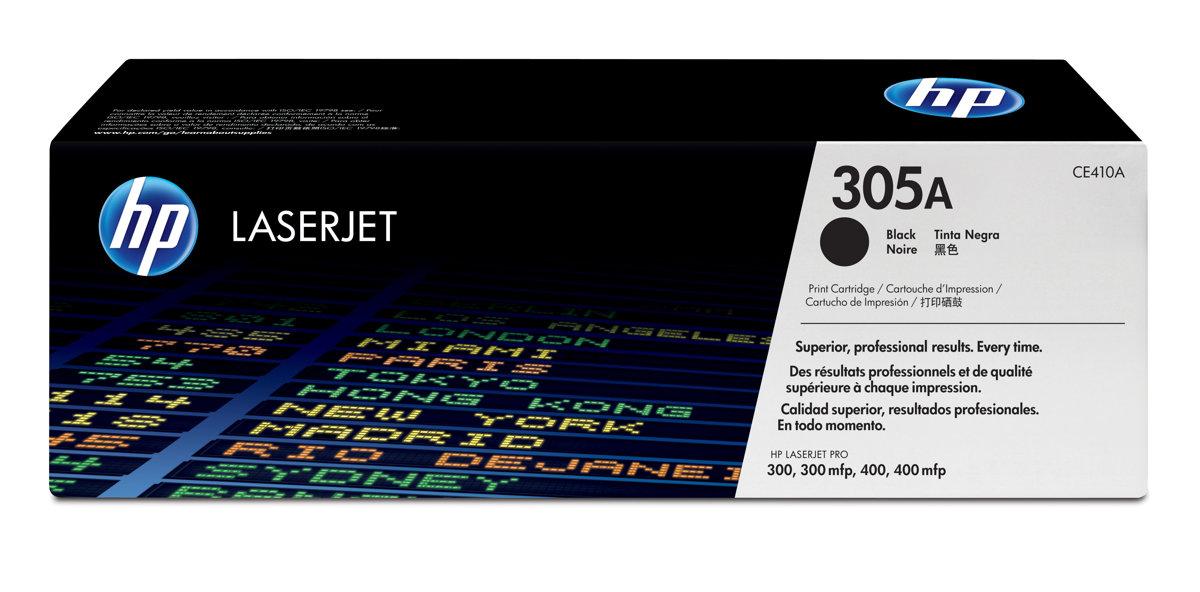HP 305A (CE410A)Black Original LaserJet Toner Cartridge for US...