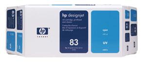 HP 83 (C5001A) Original Cyan Ink Cartridge Printhead and...