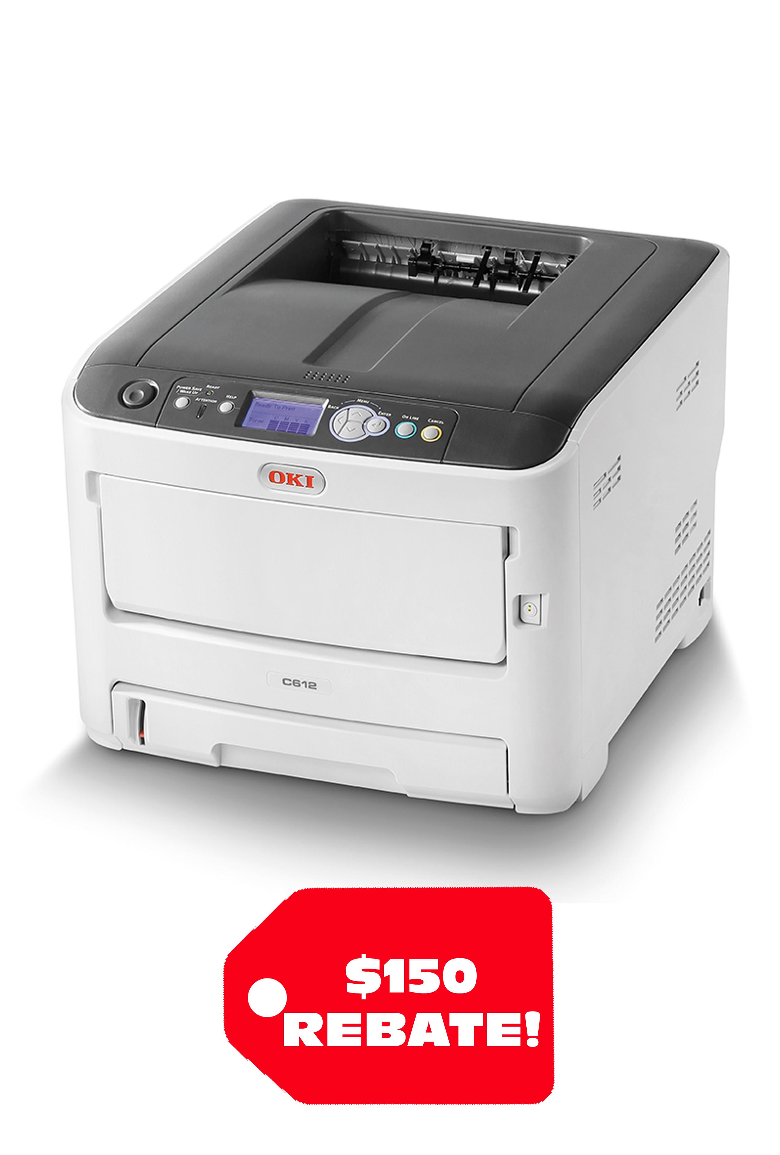 Okidata OKI C612n Digital Color Printer (33ppm)