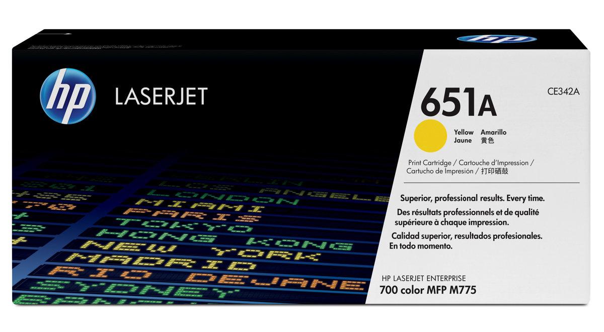 HP 651A YELLOW ORIGINAL LASERJET TONER CARTRIDGE FOR US...