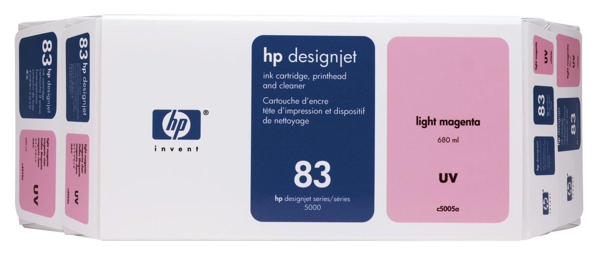 HP 83 (C5005A) Original Light Magenta Ink Cartridge Printhead...
