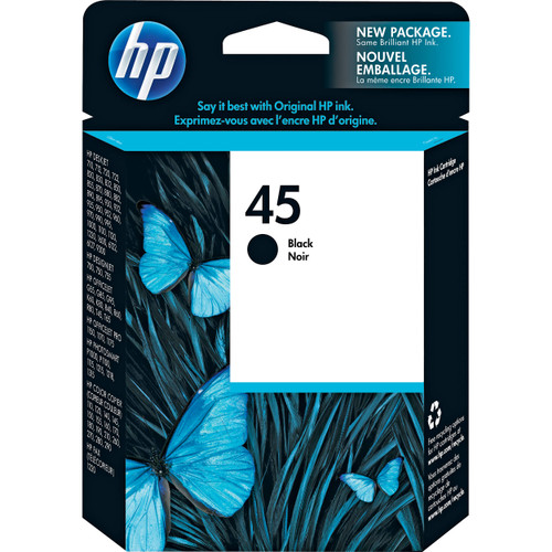 HP 51645A Disposable Fast Dry Print Cartridge Black (Generic...