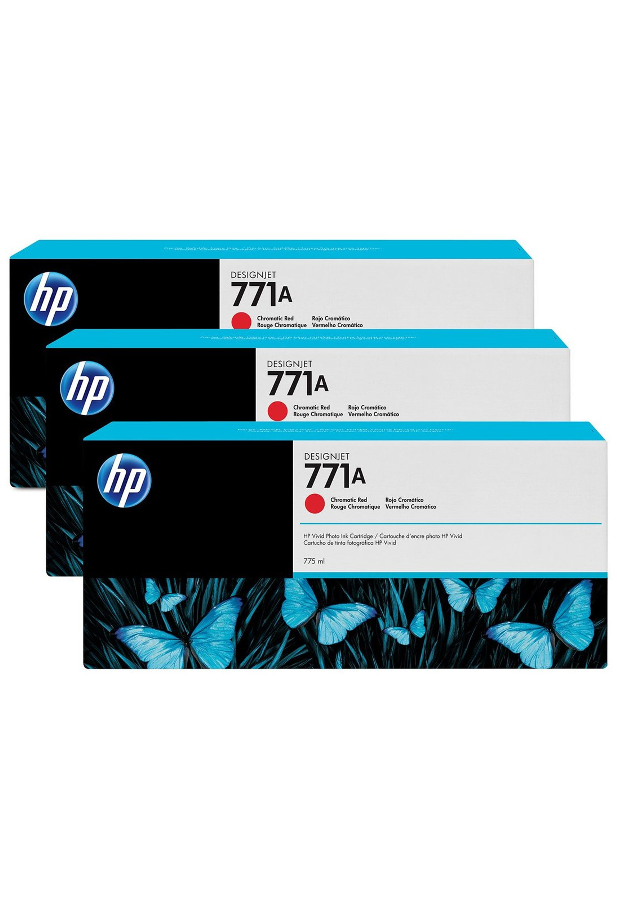 HP 771A (B6Y40A) 3-Pack Chromatic...