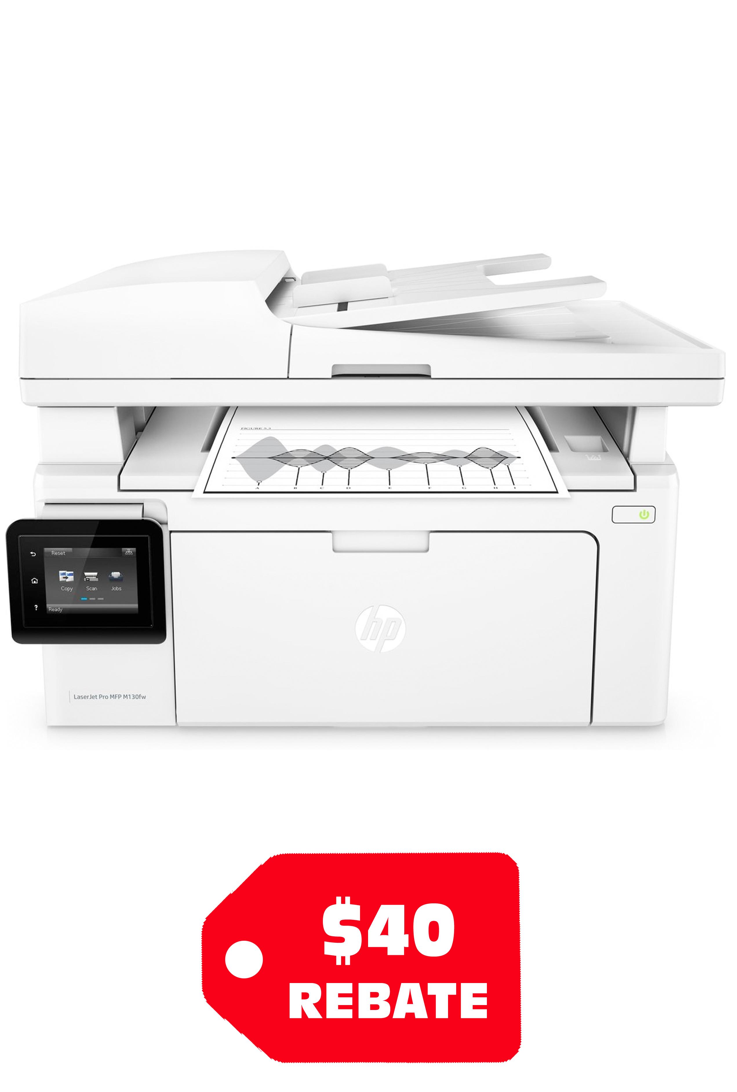HP LaserJet Enterprise  MFP M130FW 23ppm Print/ Copy/ Scan/...