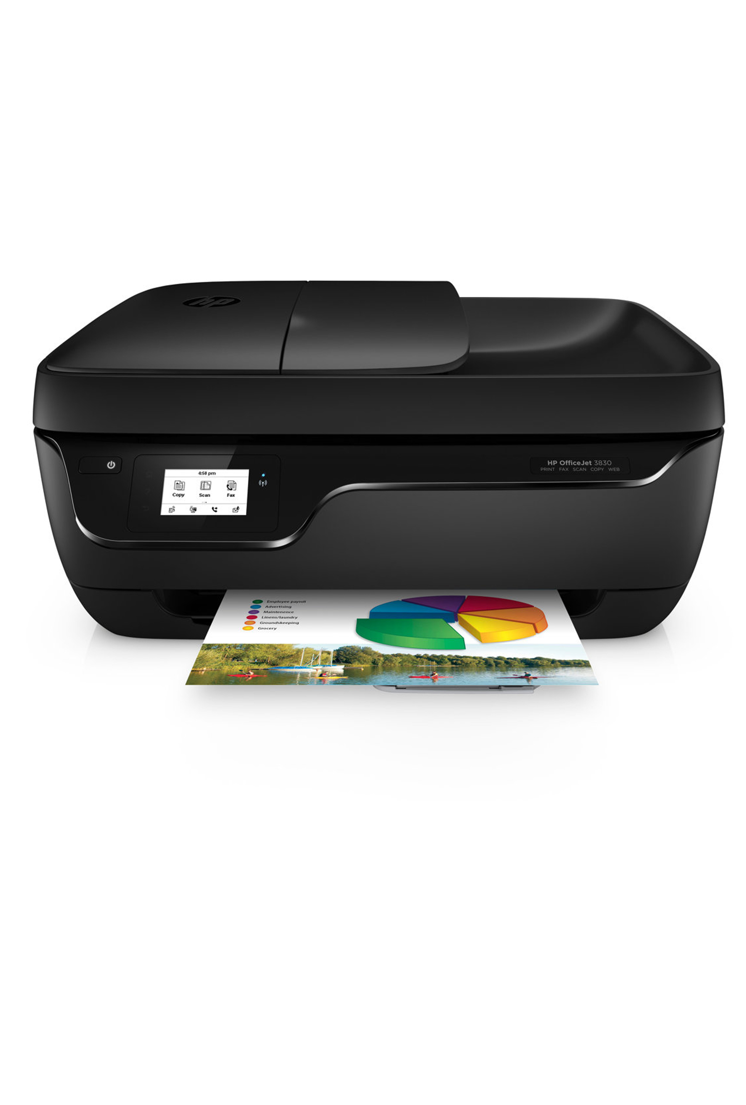 HP OfficeJet 3830 All-in-One Printer 20ppm Print/Copy/Scan/Wireless/Fax