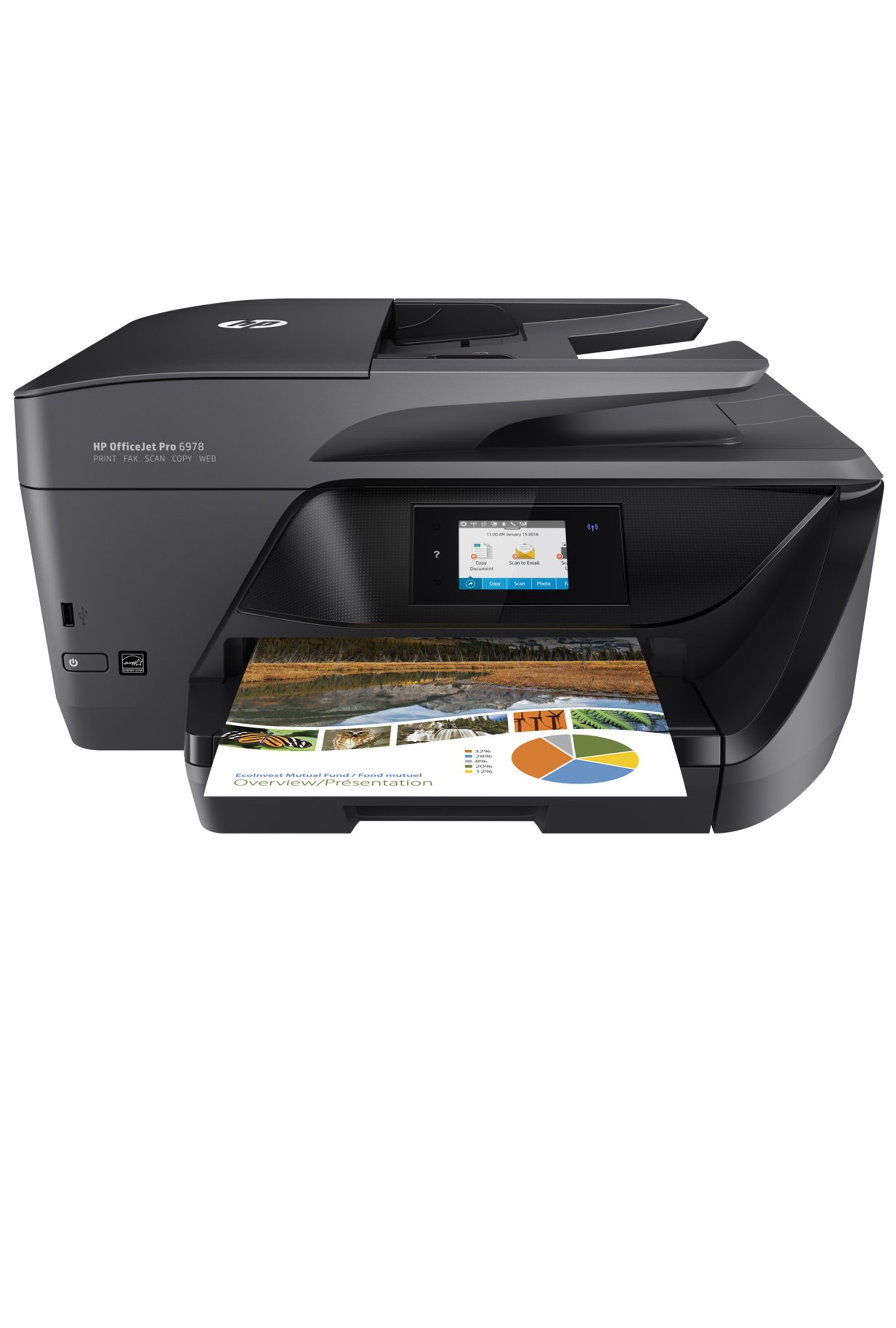 HP OfficeJet Pro 6978 All-in-One Printer up to 30PPM Print/ Copy/ Scan/ Fax