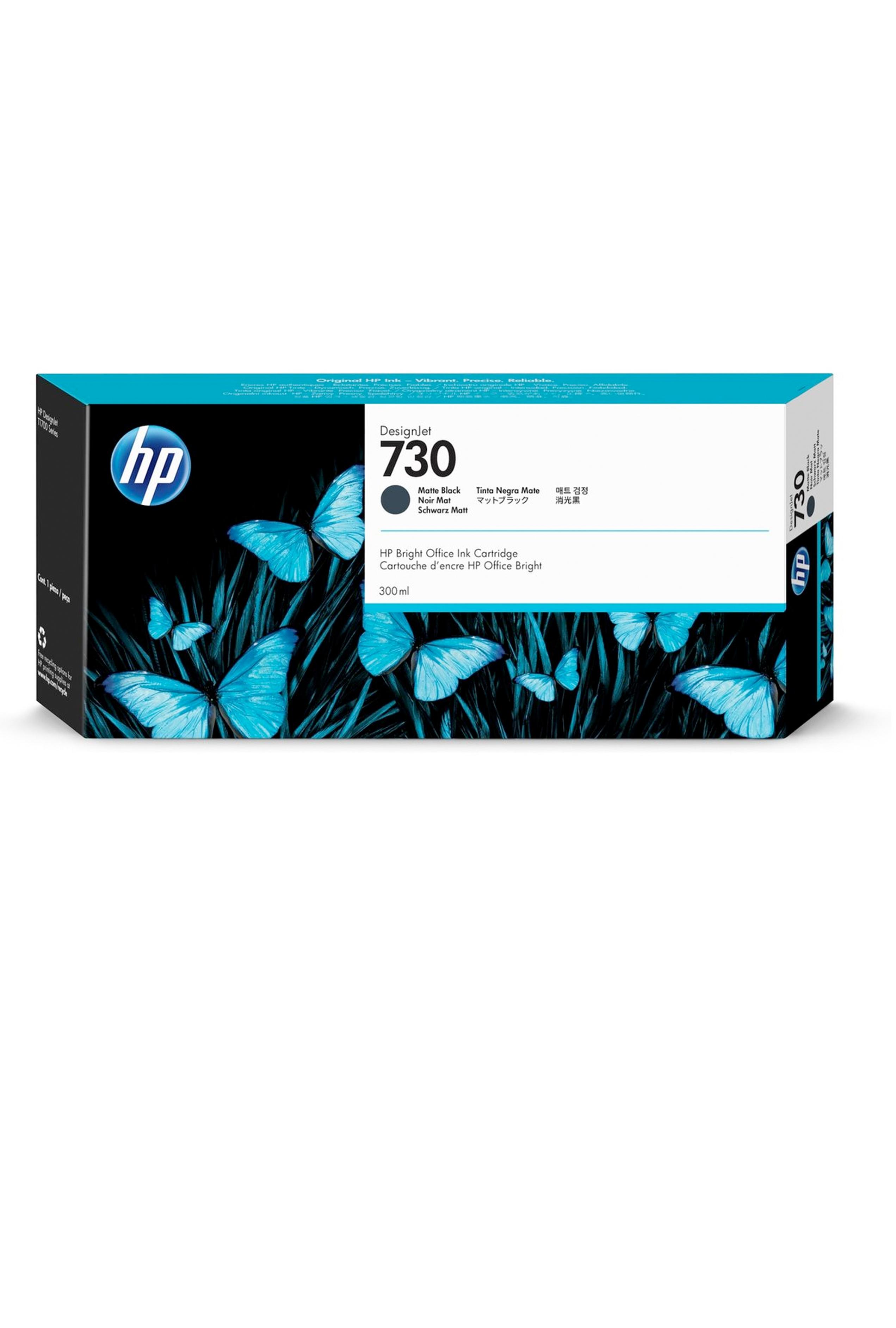 HP 730 300-ml Matte Black DesignJet Ink Cartridge (P2V71A)