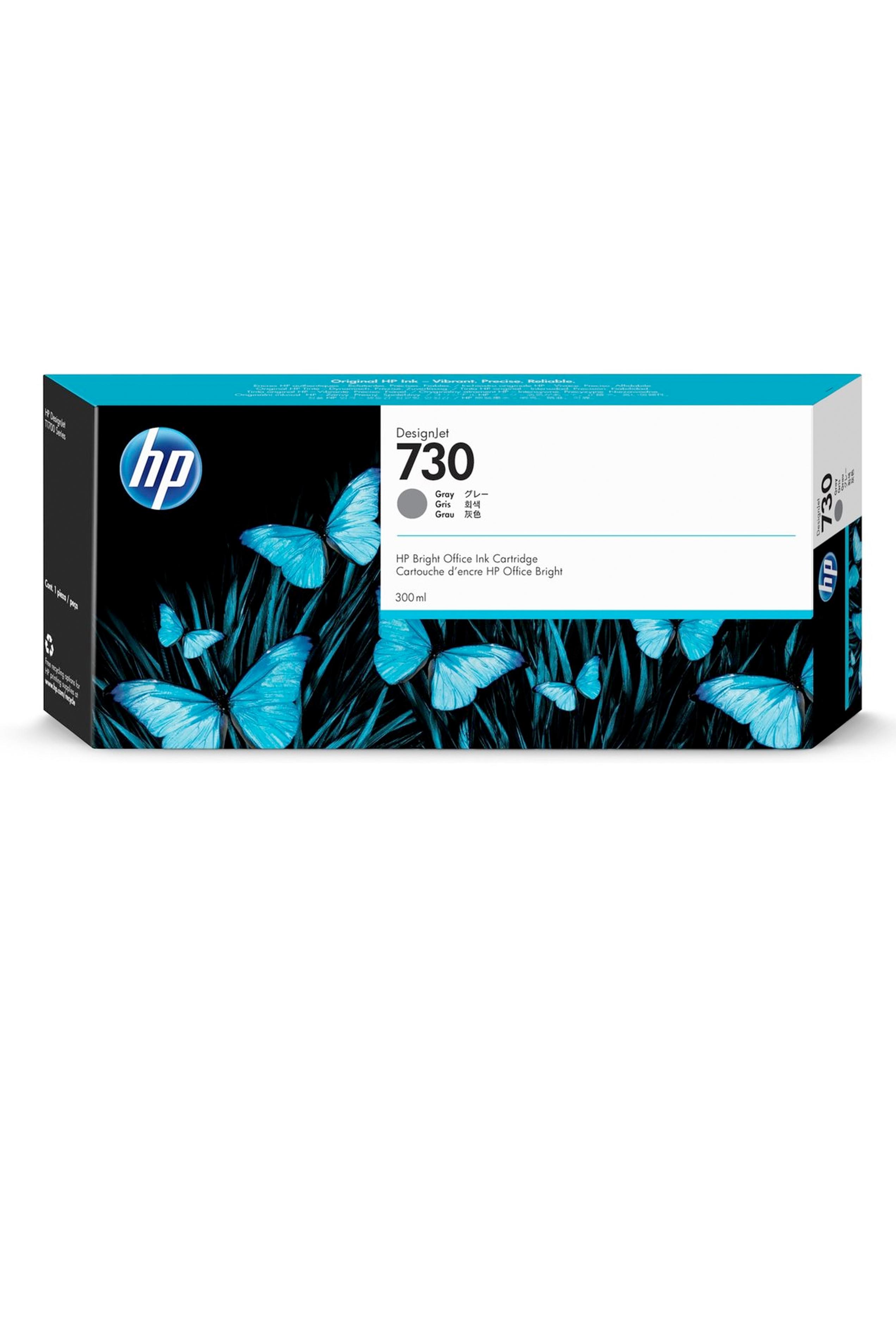 HP 730 300-ml Gray DesignJet Ink Cartridge (P2V72A)