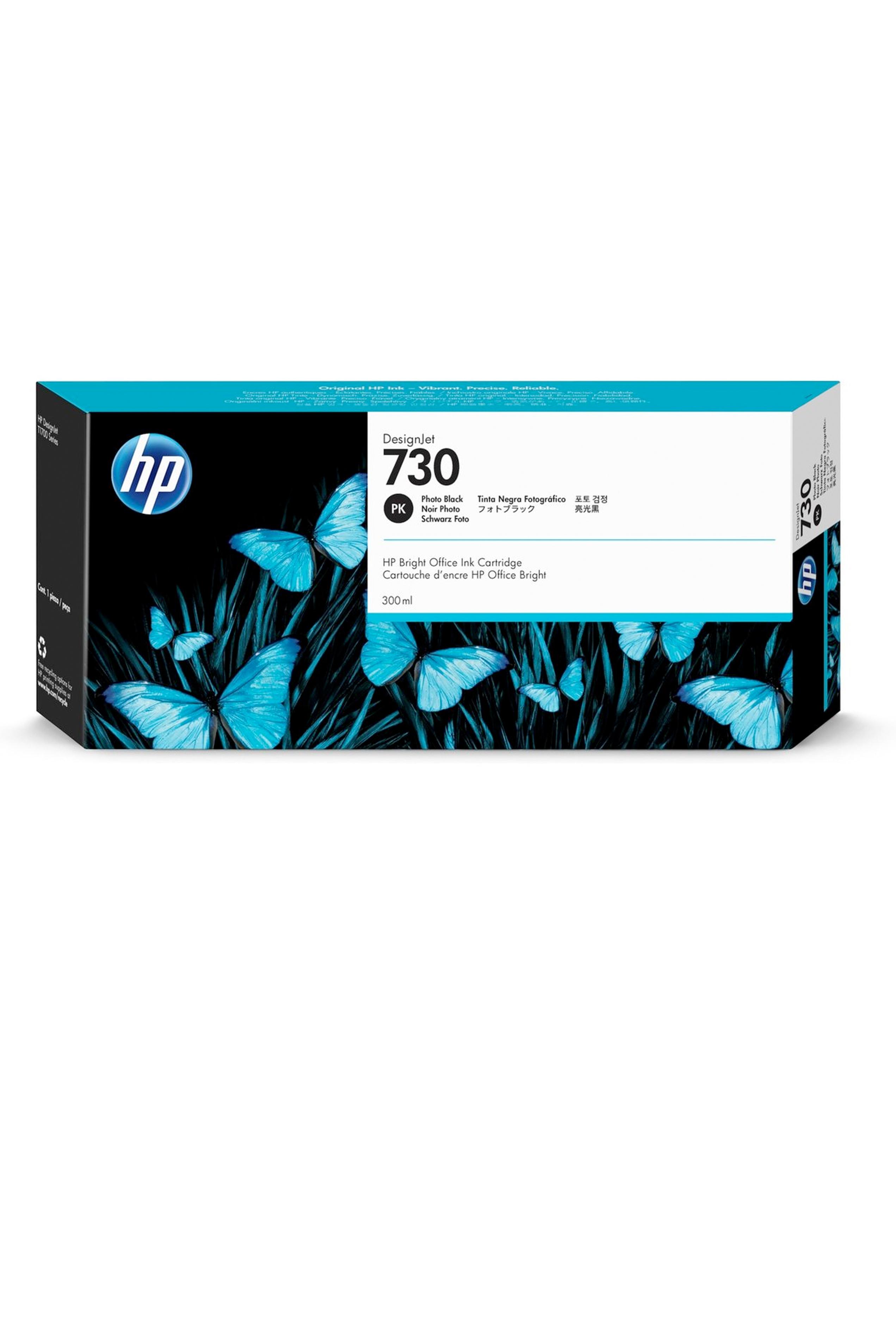 HP 730 300-ml Photo Black DesignJet Ink Cartridge (P2V73A)
