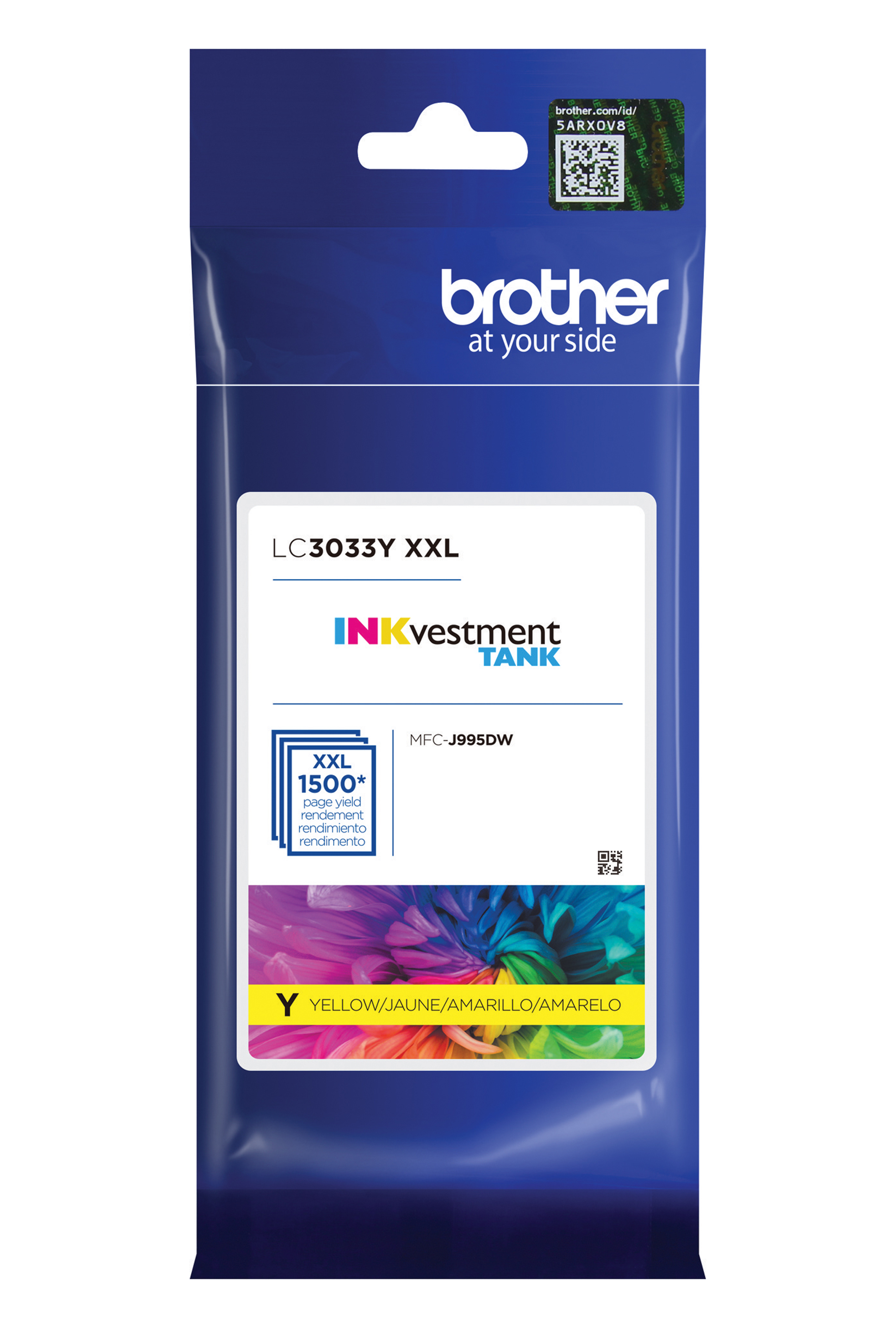 Brother Super High Yield Yellow Ink Cartridge (LC3033Y)