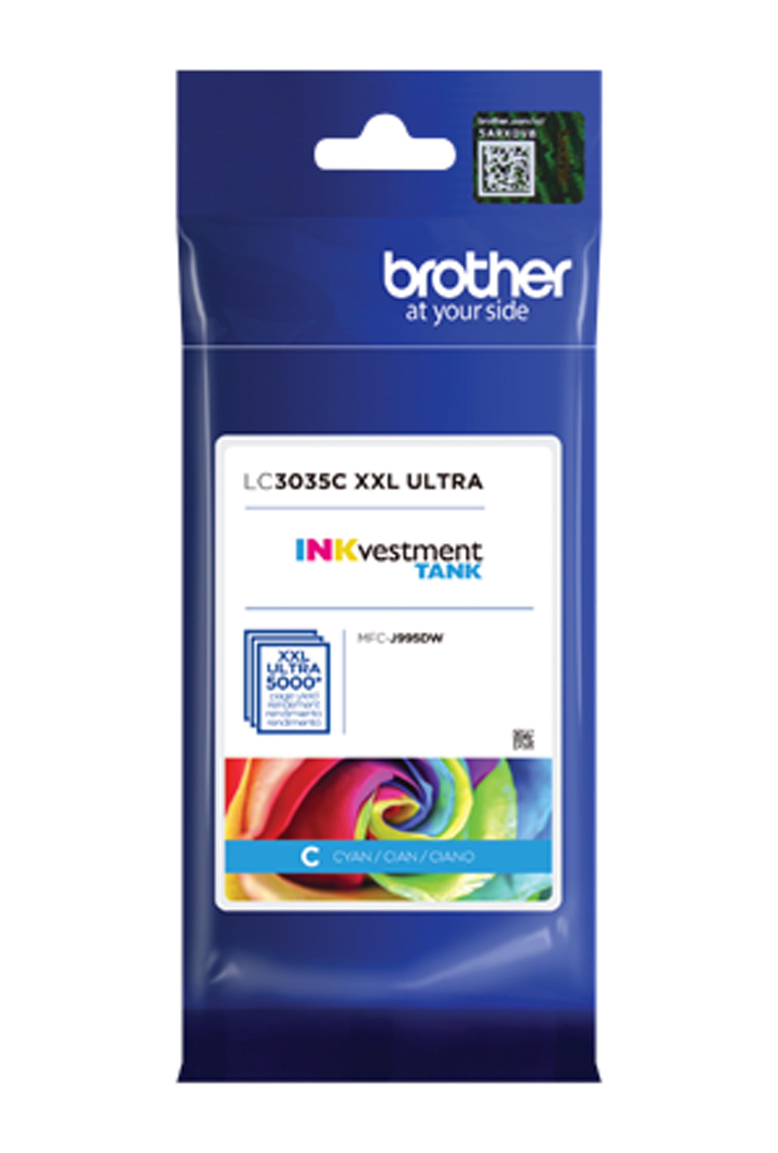 Brother Ultra High Yield Cyan Ink Cartridge (LC3035C)