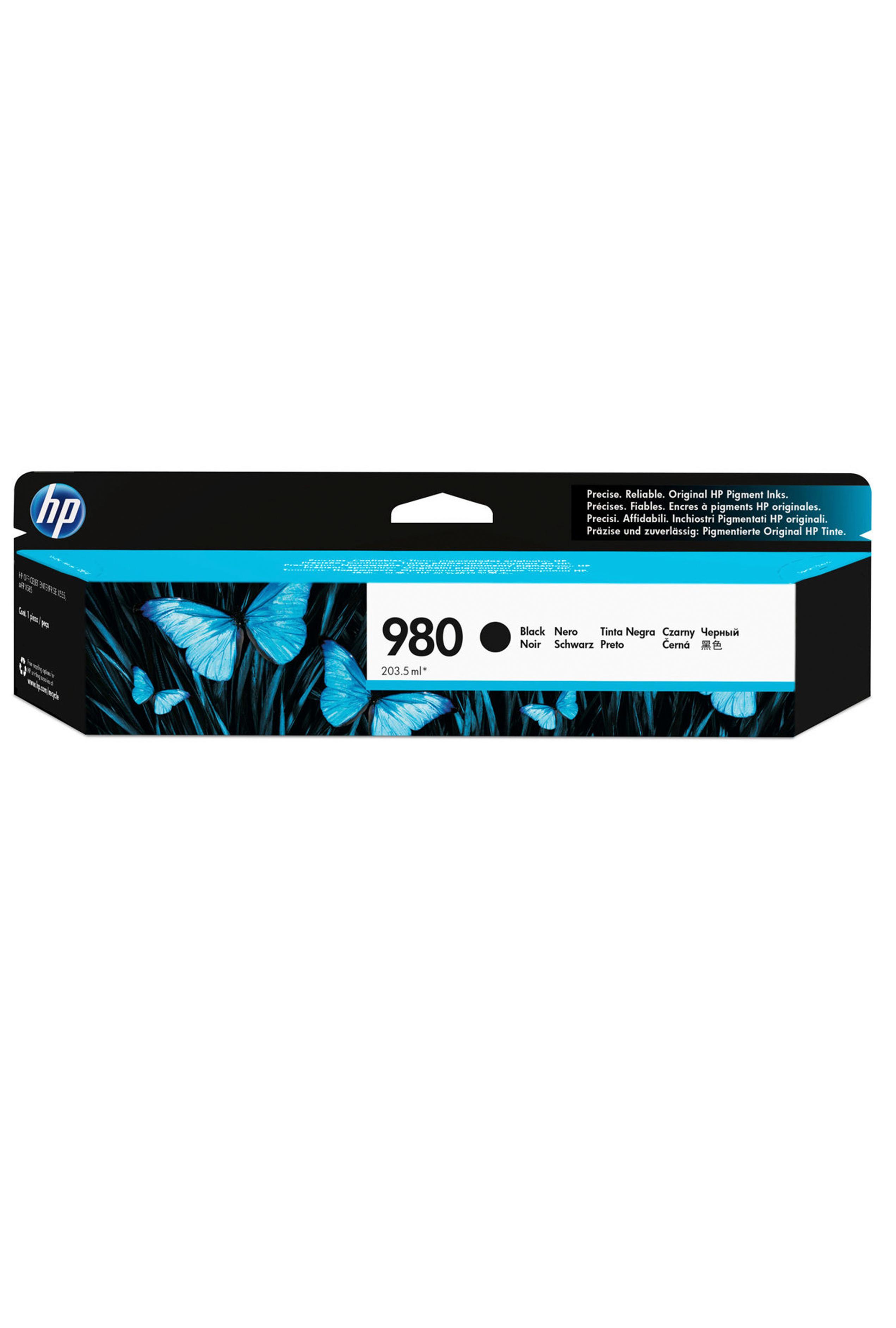 HP 980 BLACK INKJET CARTRIDGE FOR US GOVERNMENT (10K) (D8J10AG)