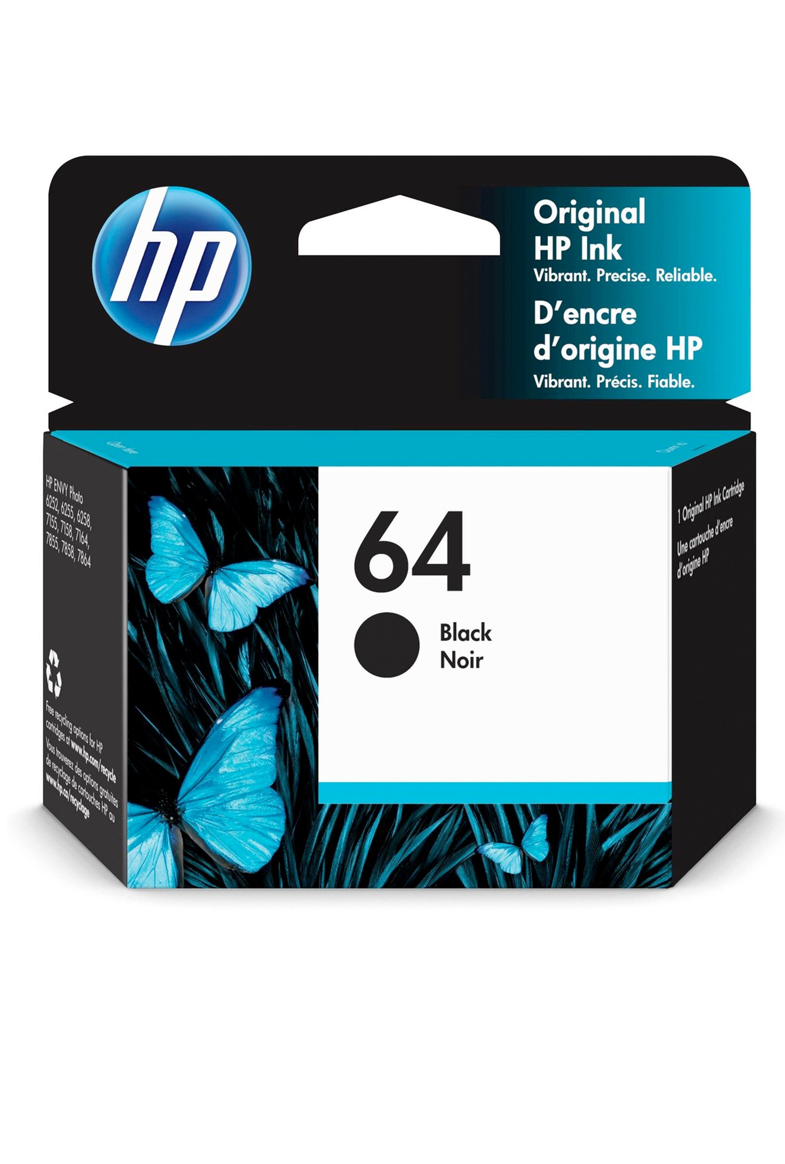 HP 64 BLACK ORIGINAL INK CARTRIDGE (N9J90AN)
