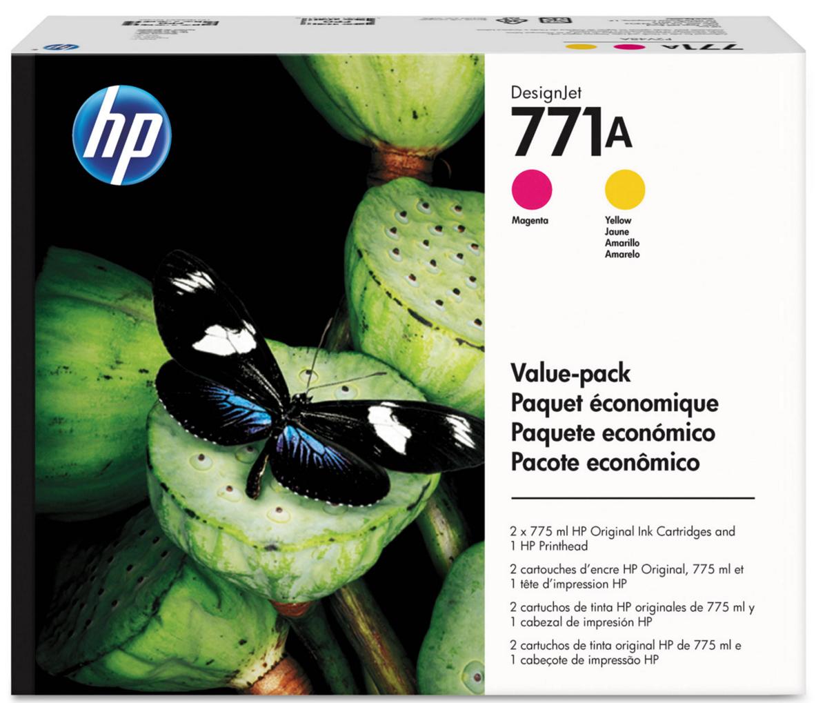 HP 771 Magenta/Yellow Printhead and 771A Original Ink...