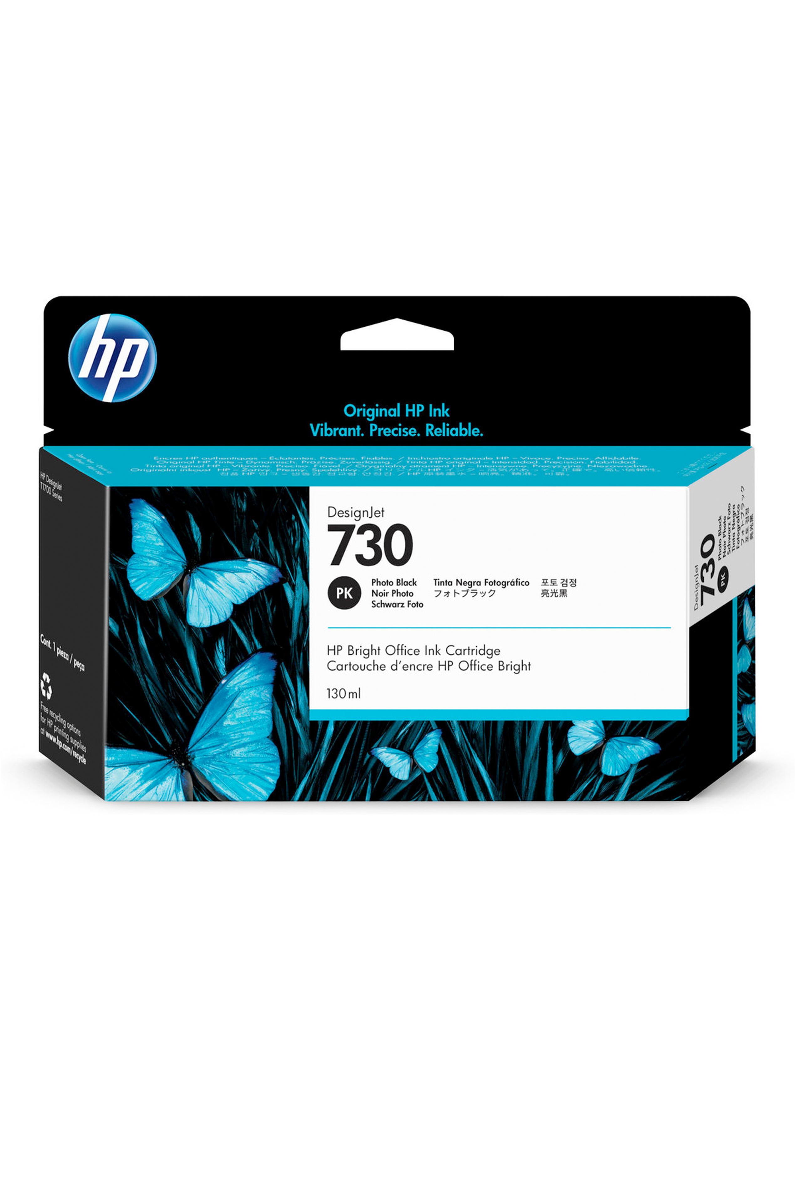 HP 730 130-ml Photo Black DesignJet Ink Cartridge (P2V67A)