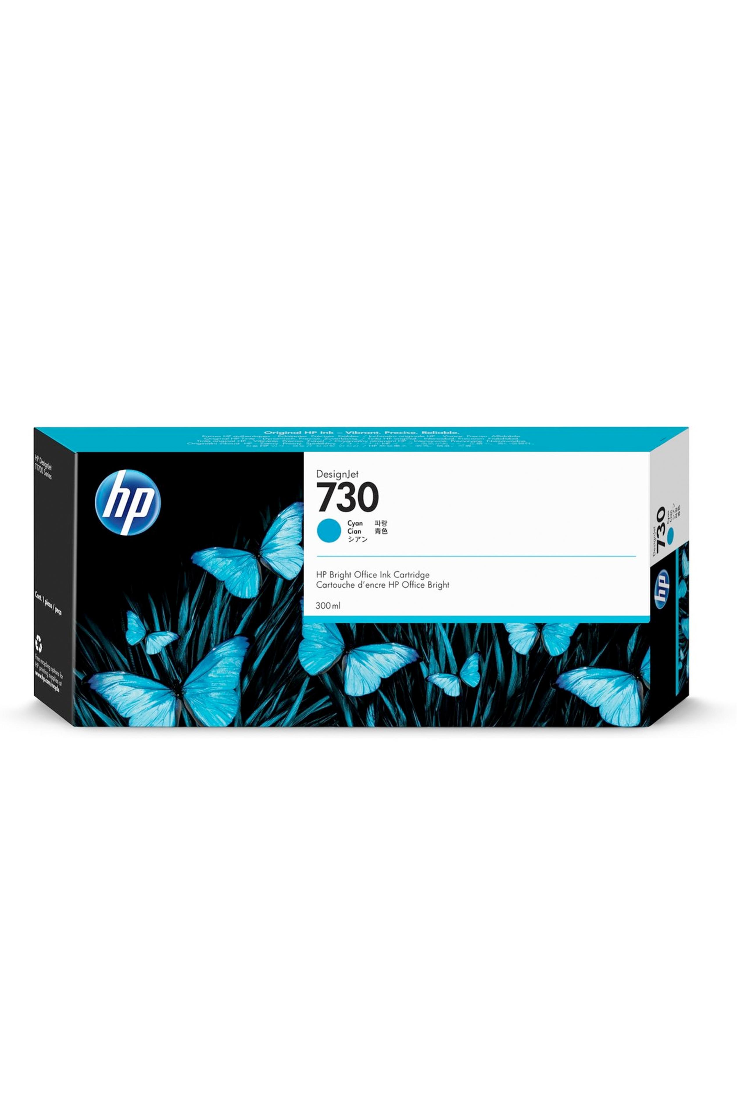 HP 730 300-ml Cyan DesignJet Ink Cartridge (P2V68A)