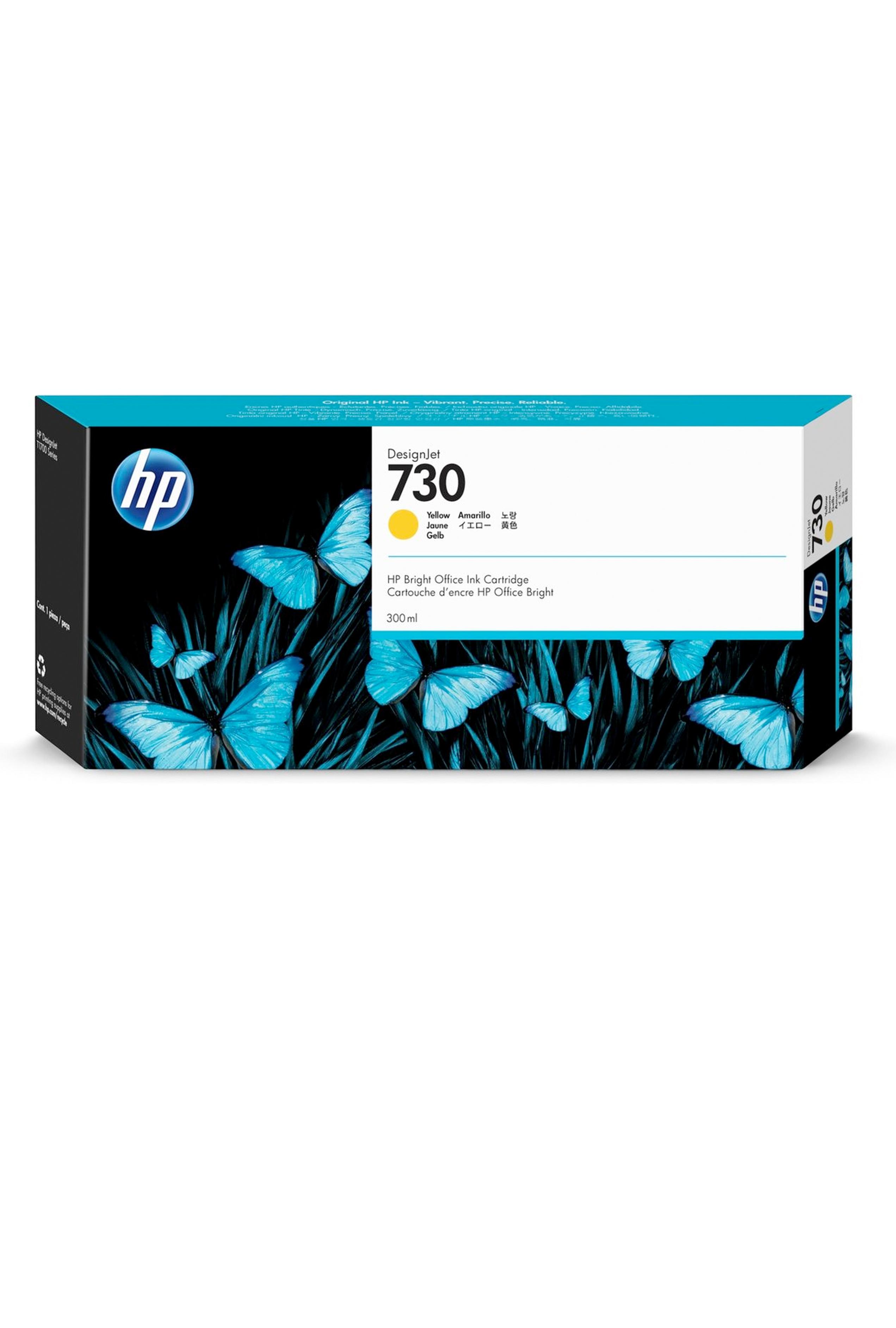 HP 730 300-ml Yellow DesignJet Ink Cartridge (P2V70A)