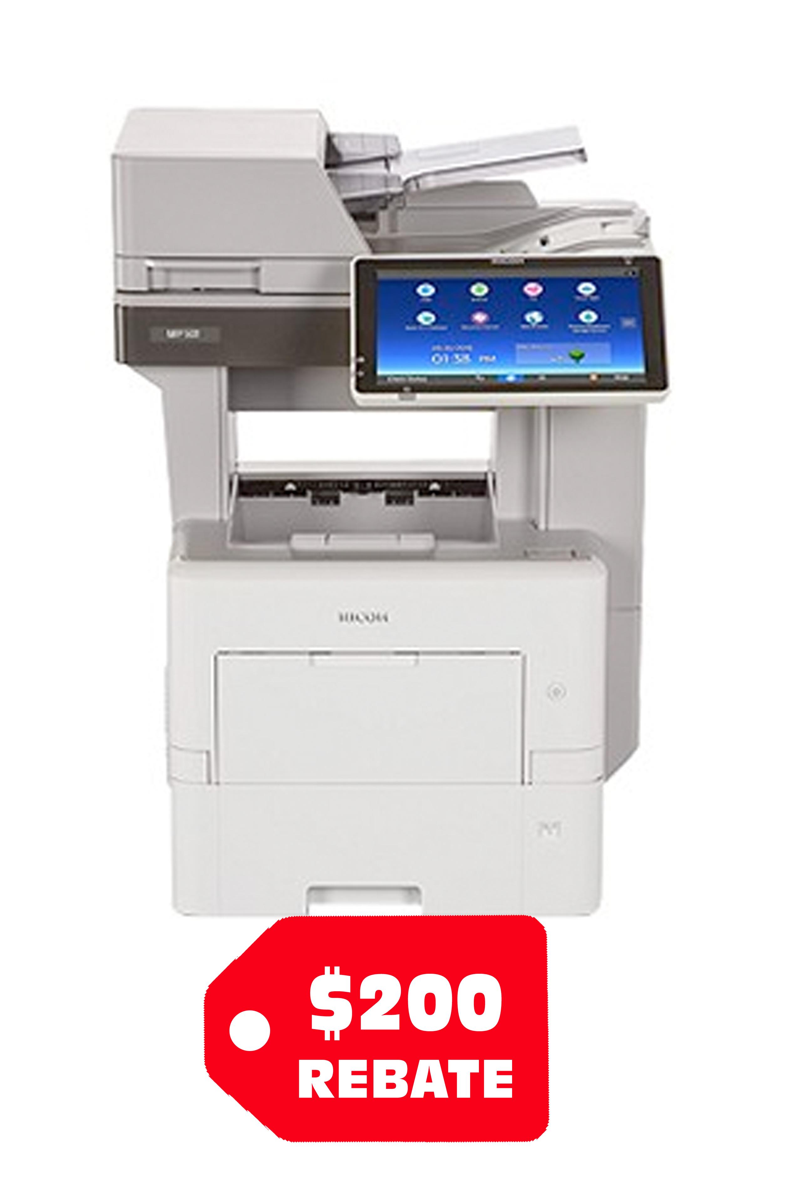 Ricoh MP 501SPF Black and White Laser Multifunction Printer...