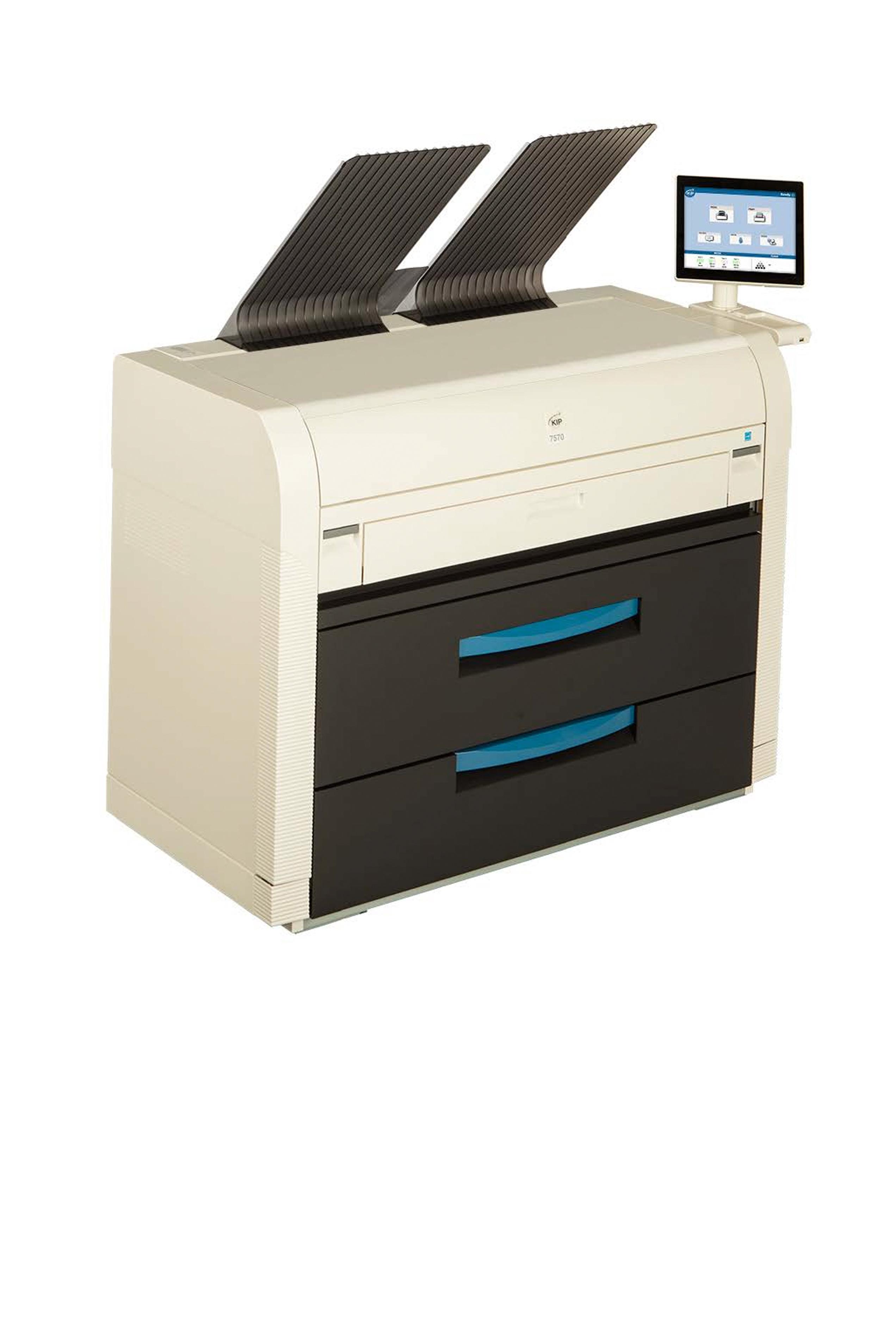 Kip 7580 MFP SYSTEM - 10 D PPM 600 Prints Per Hour 4 Roll MFP...