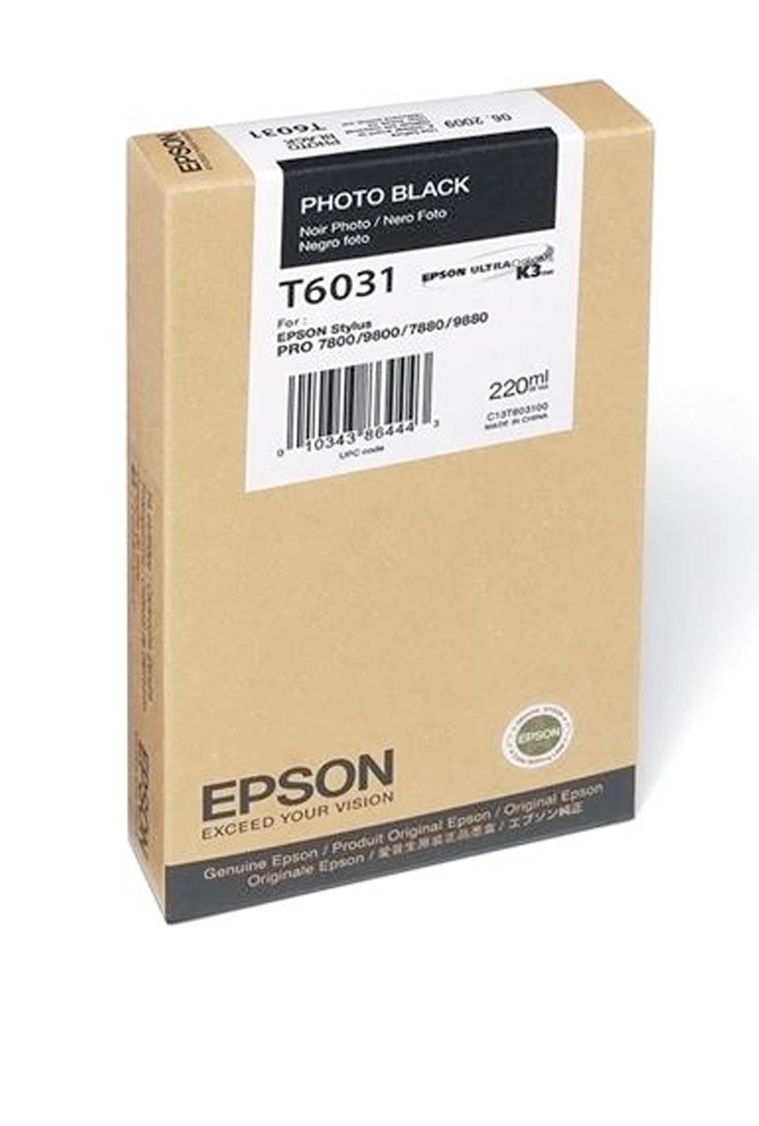 Epson EPSON SD PHOTO BLACK INK (220 ML) (T603100)