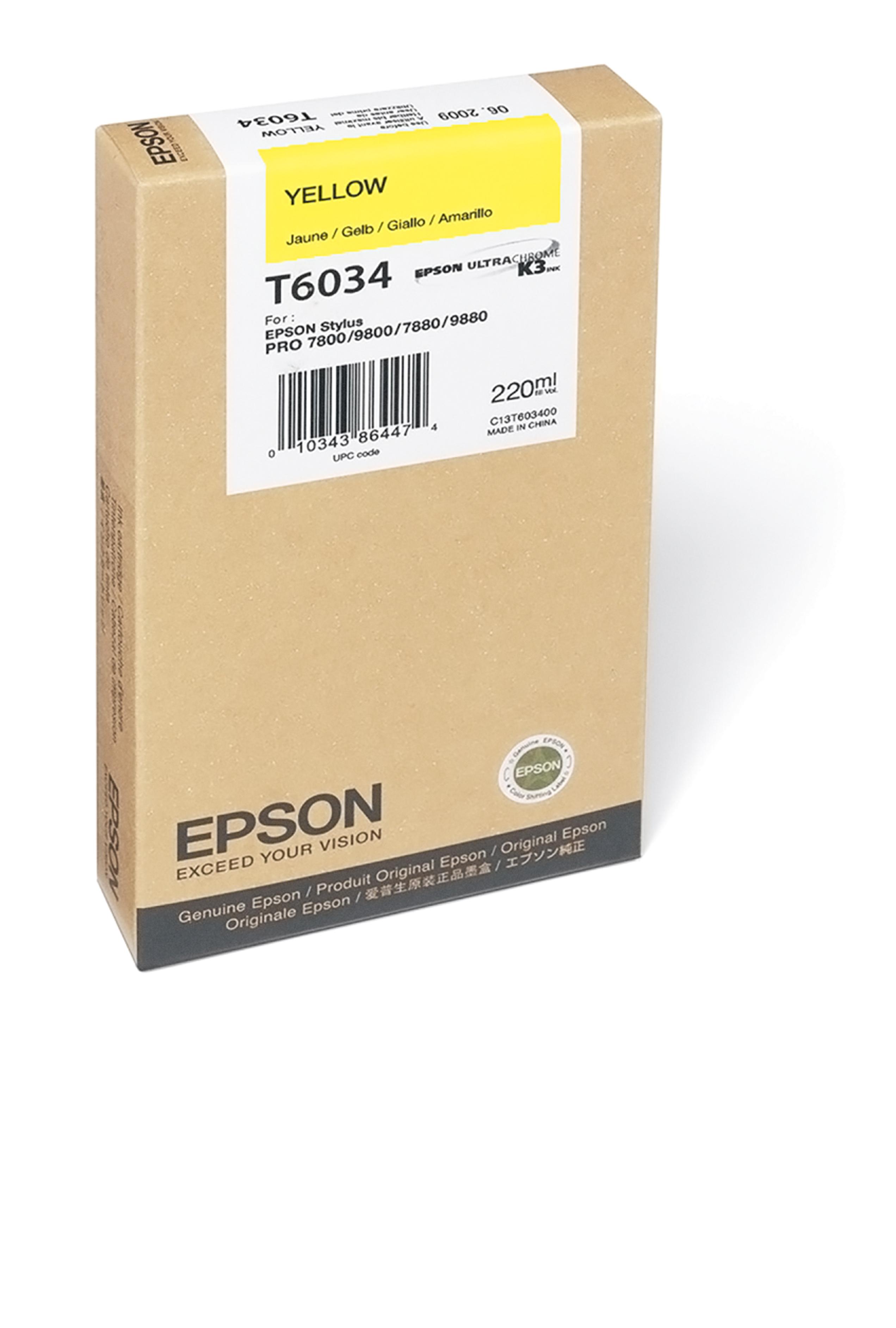 Epson EPSON SD YELLOW INK (220 ML) (T603400)