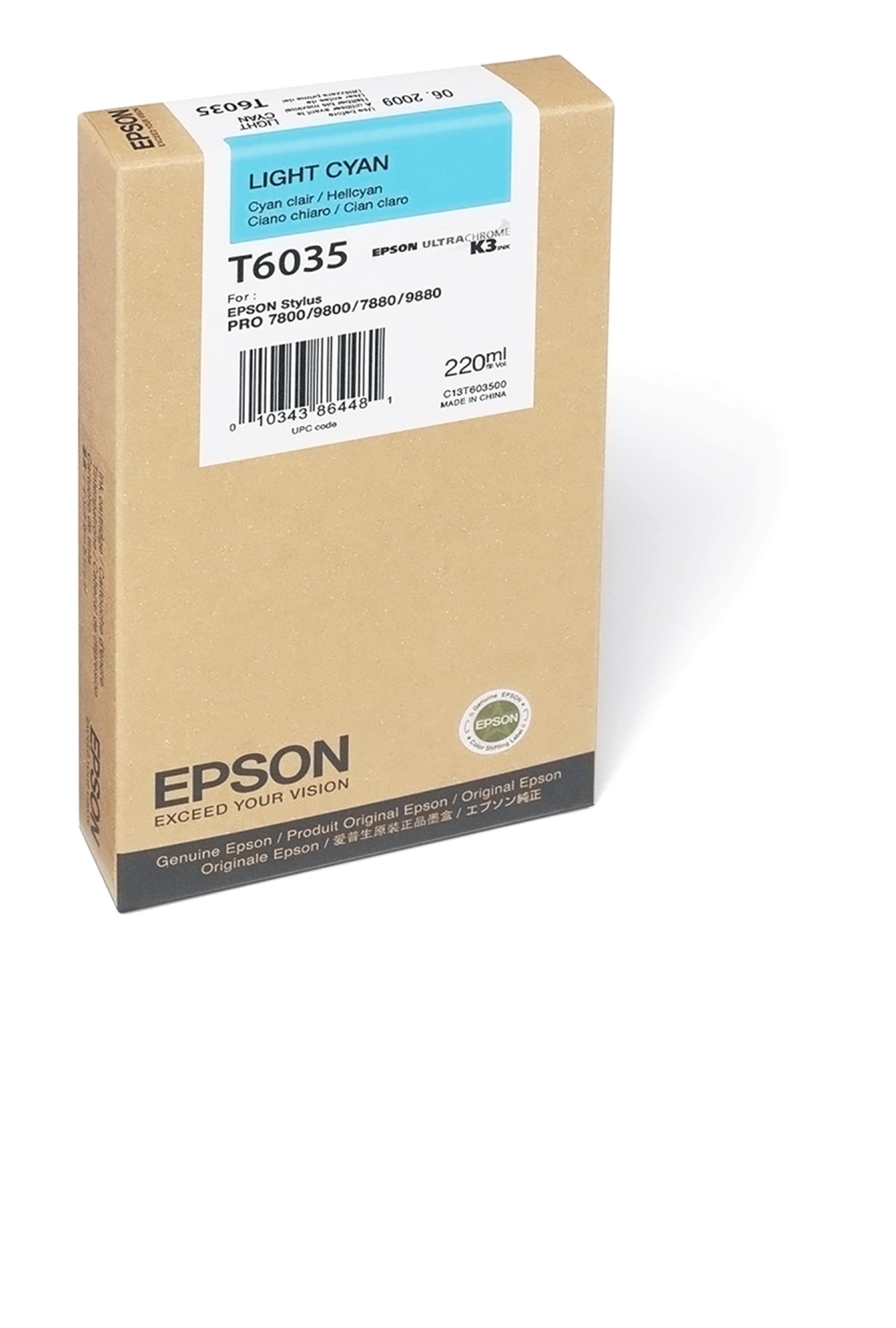 Epson EPSON SD LT CYAN INK (220 ML) (T603500)