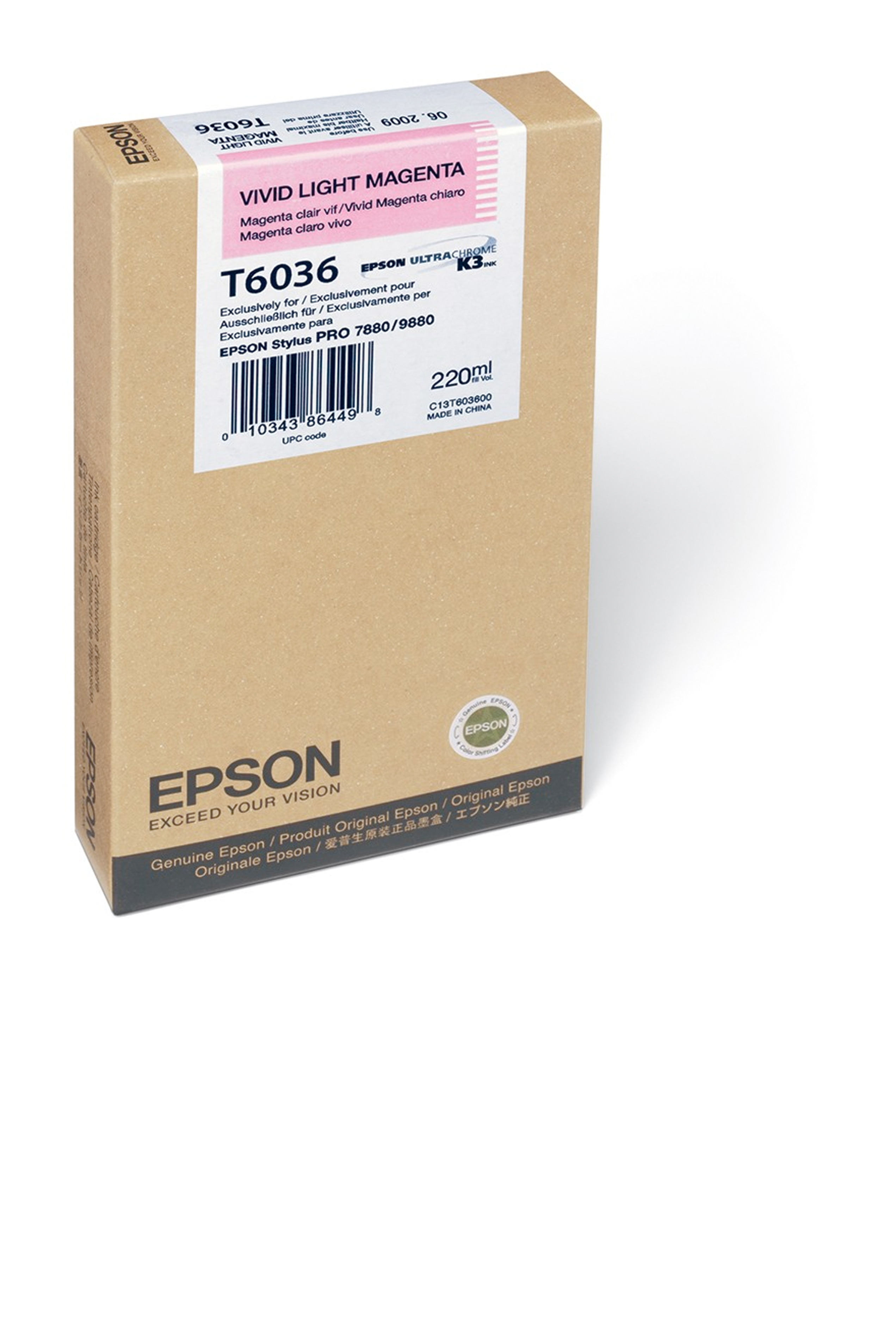 Epson EPSON SD VIVID LT MAGENTA (220 ML) (T603600)