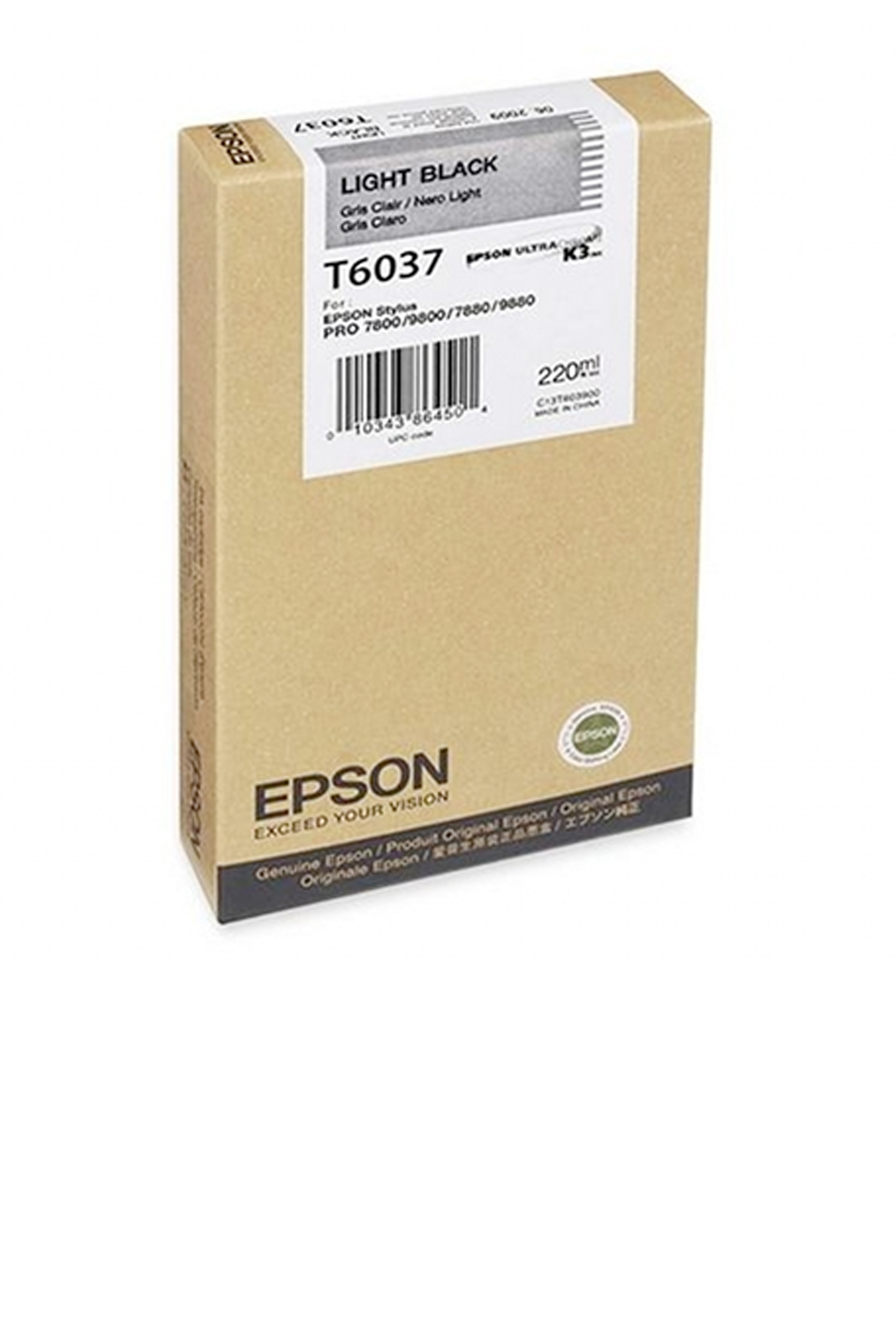Epson EPSON SD LT BLACK INK (220 ML) (T603700)