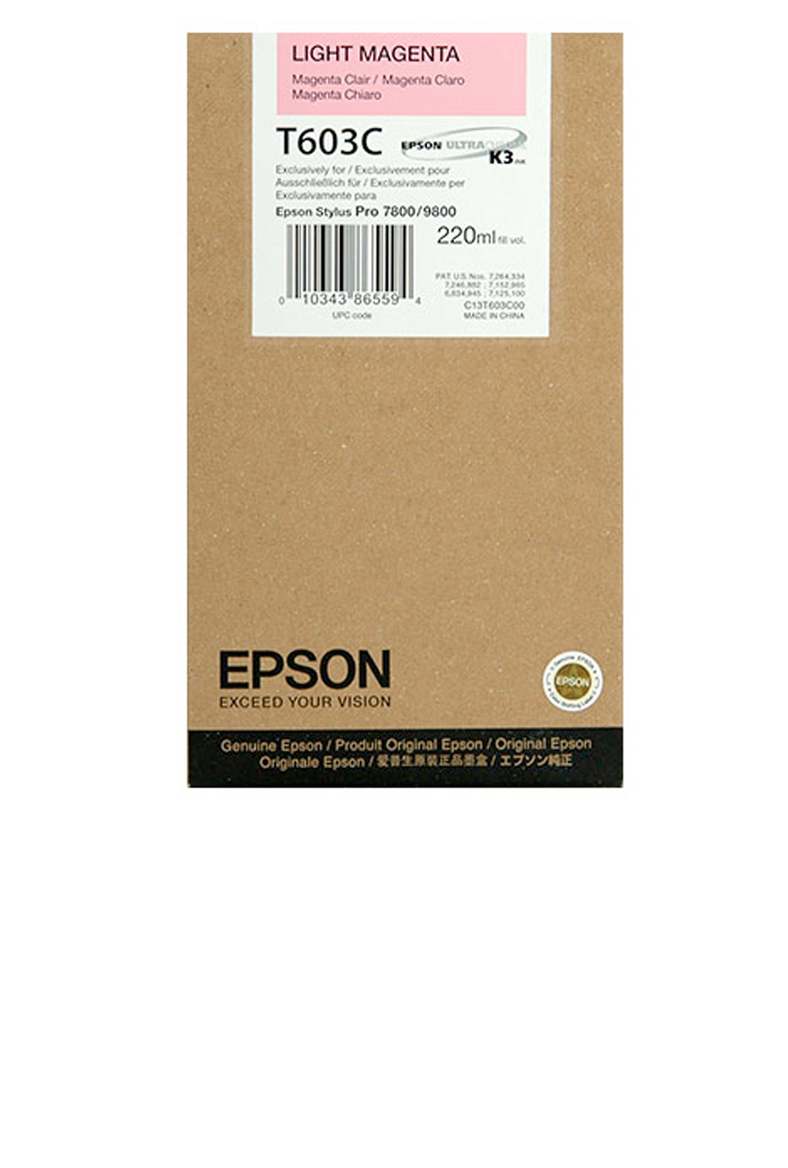 Epson EPSON SD LT MAGENTA INK (220 ML) (T603C00)