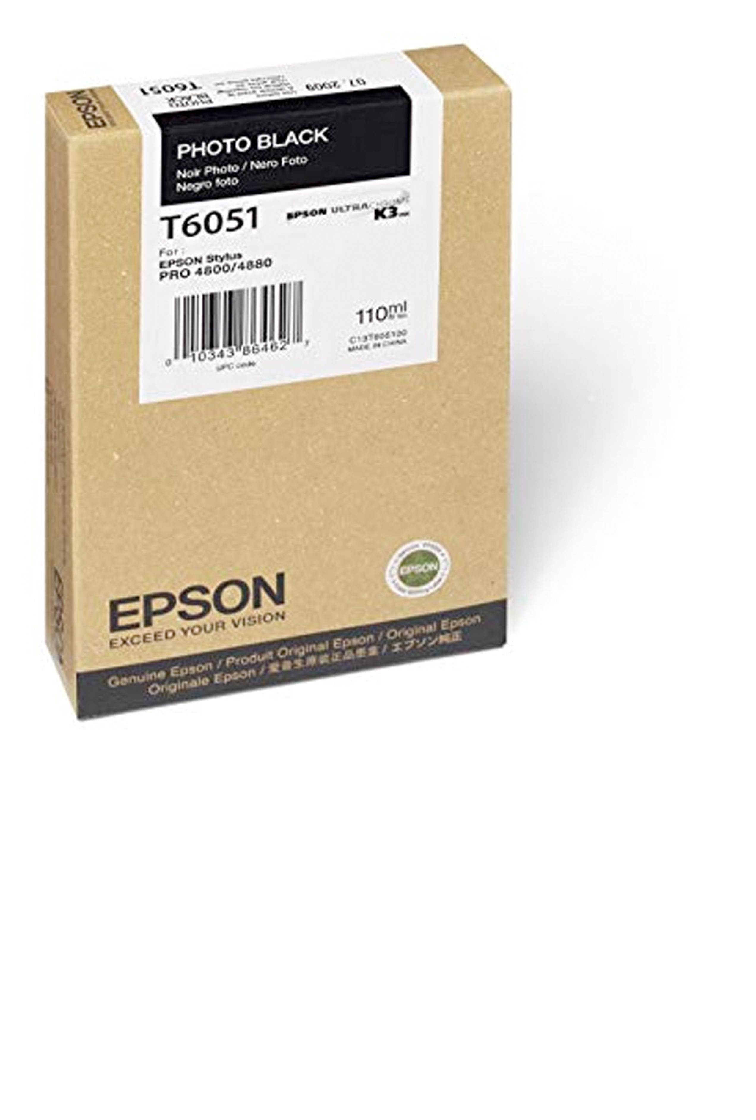 Epson EPSON SD PHOTO BLACK INK (110 ML) (T605100)